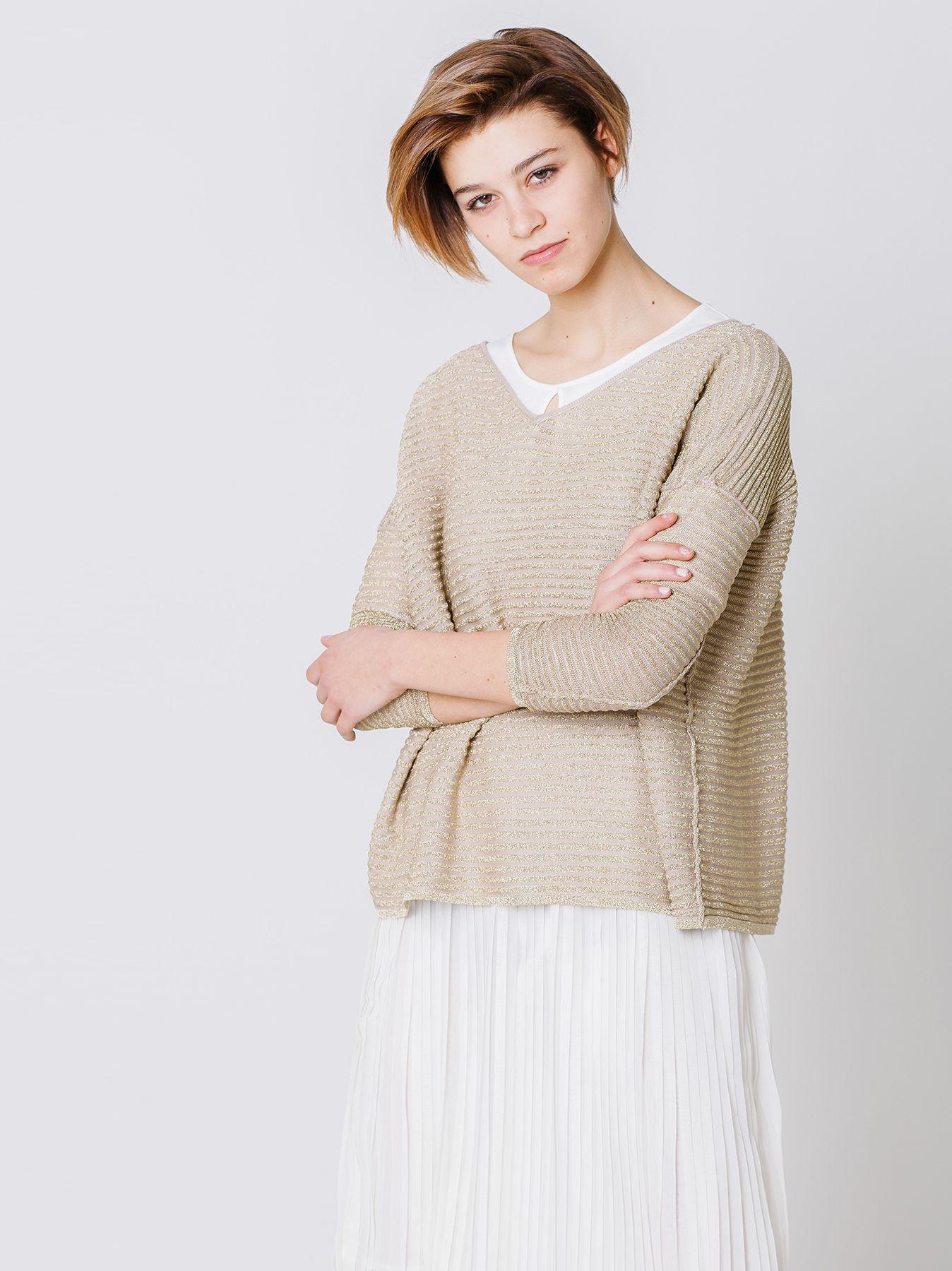 Maxi maglia lurex