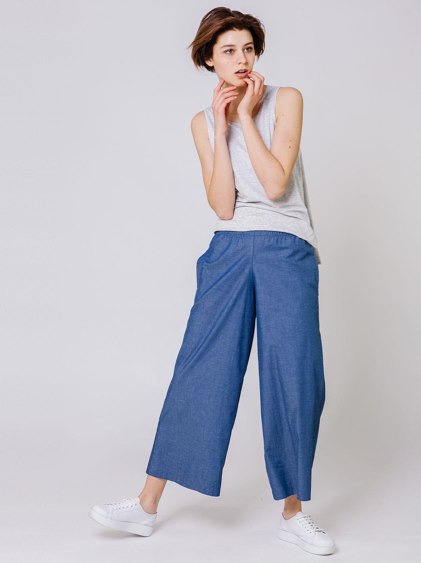 Pantalone chambray