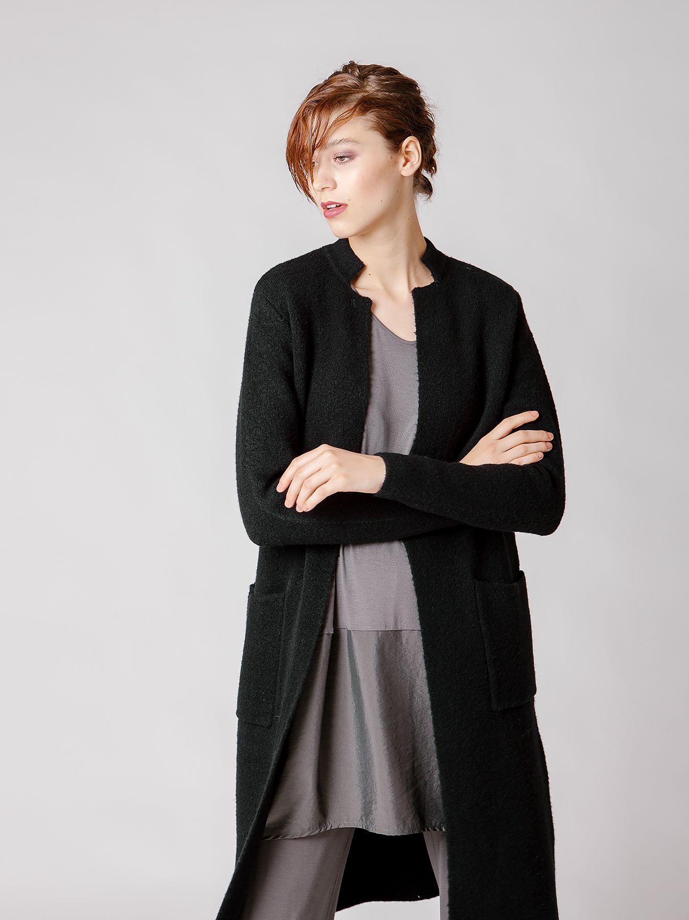 Cappotto lungo in maglia