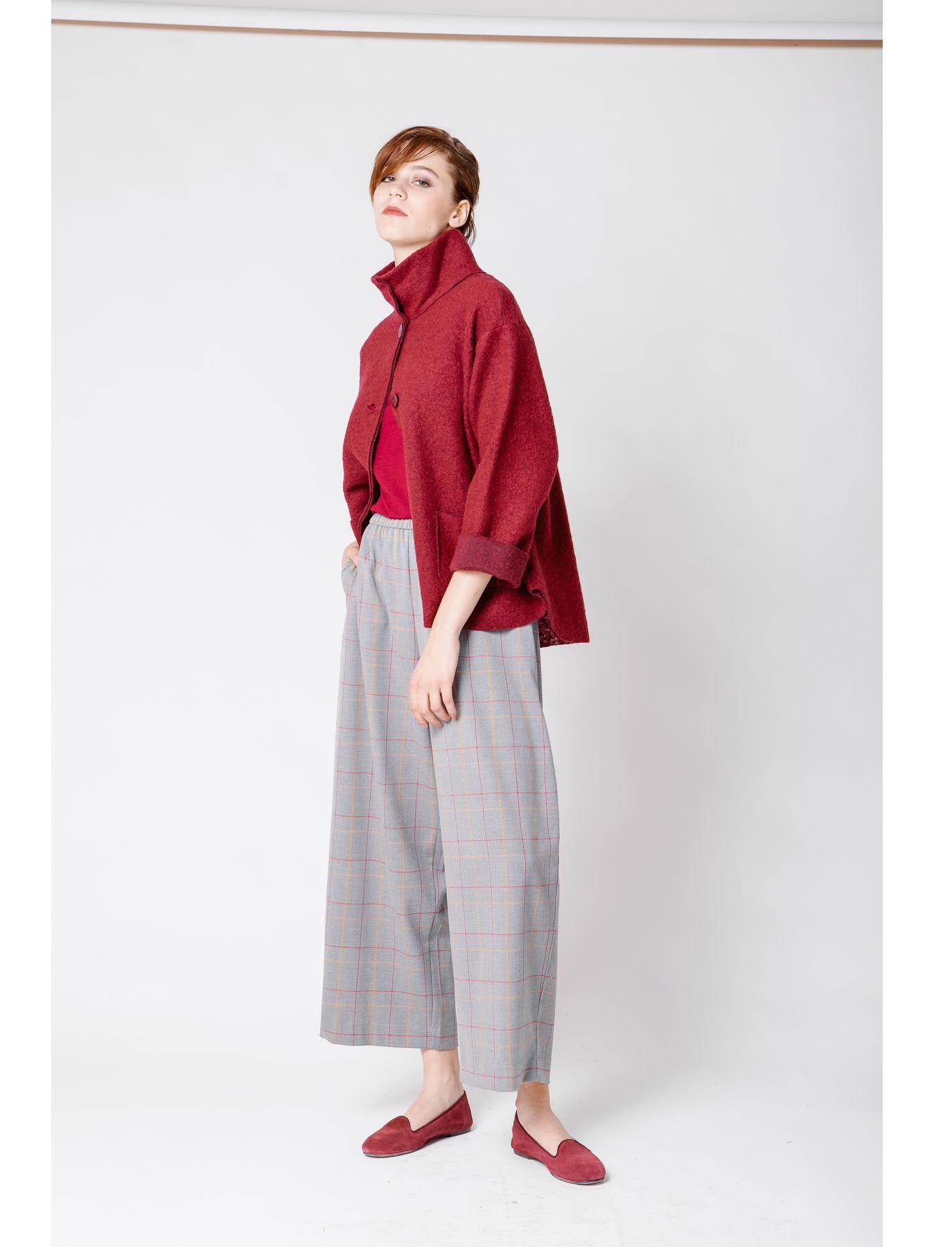 Giacca camicia in lana cotta