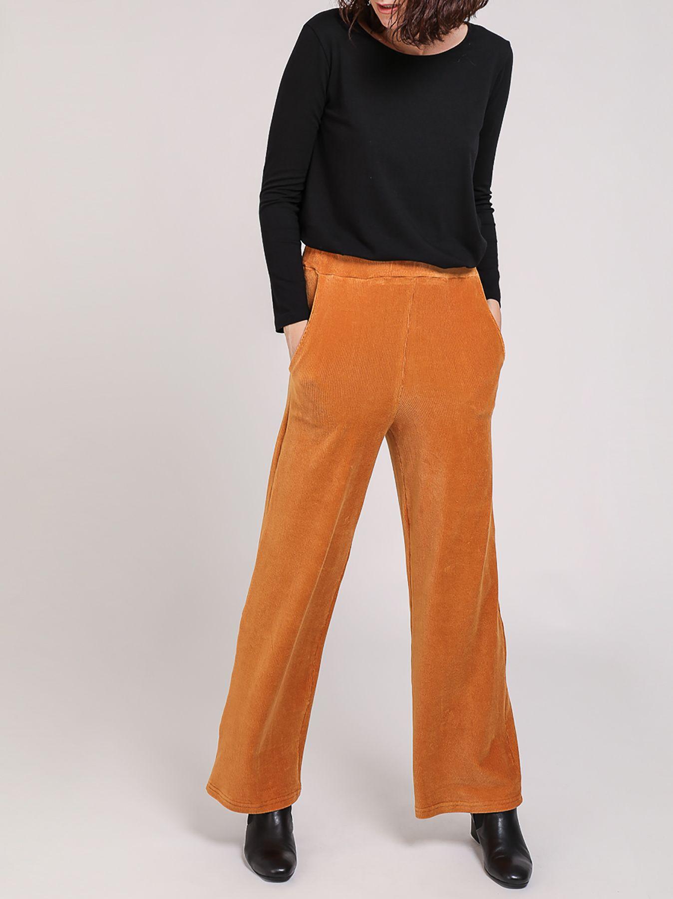 Pantalone in velluto a microcoste