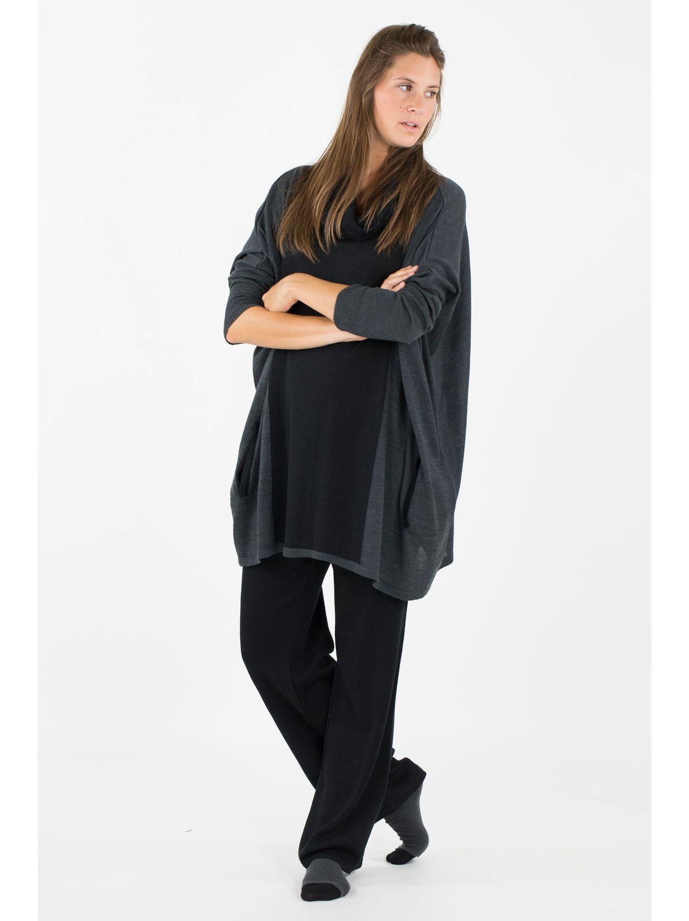 Maxi maglia bicolore