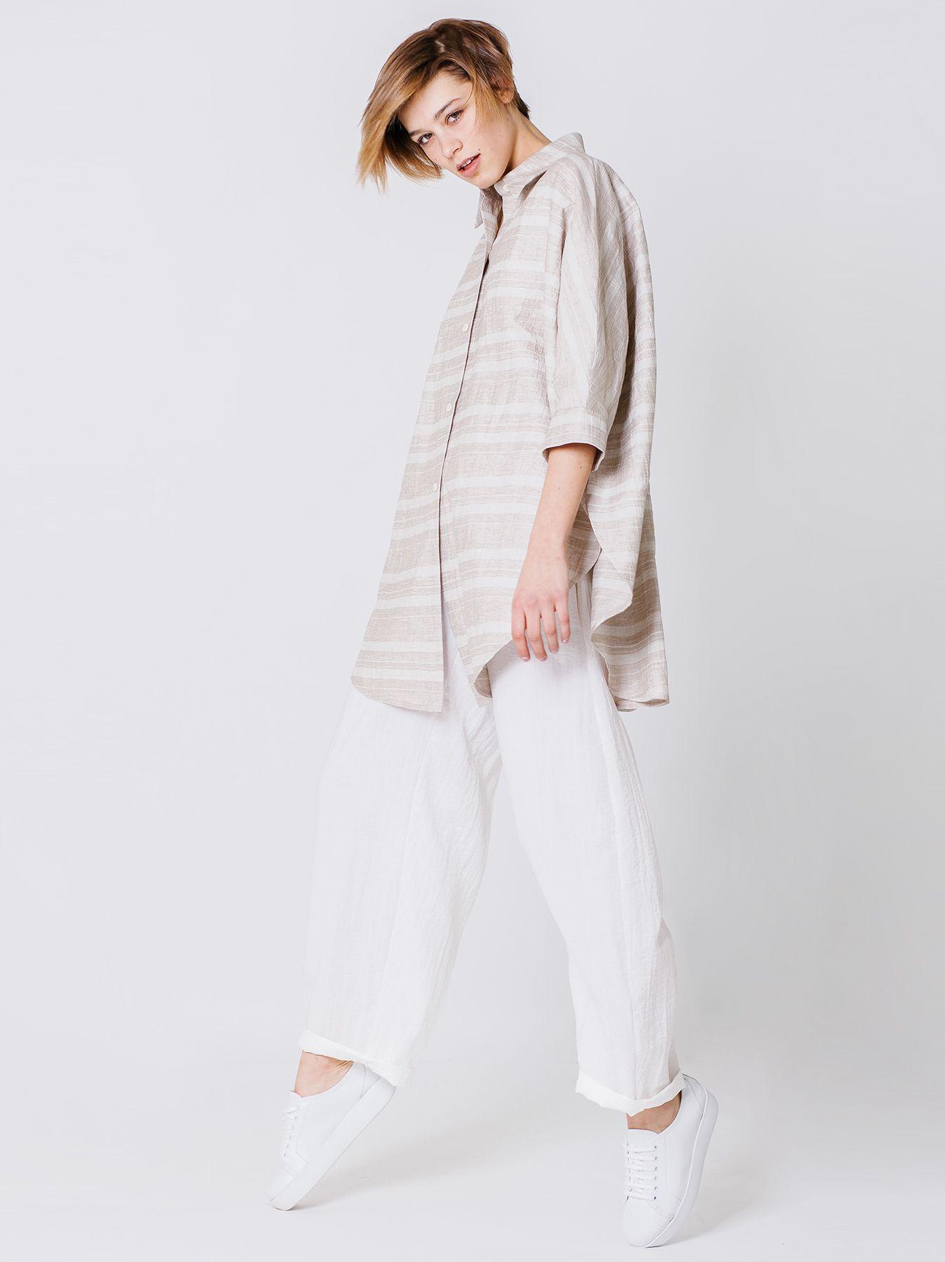 Camicia del pittore in lino cotone
