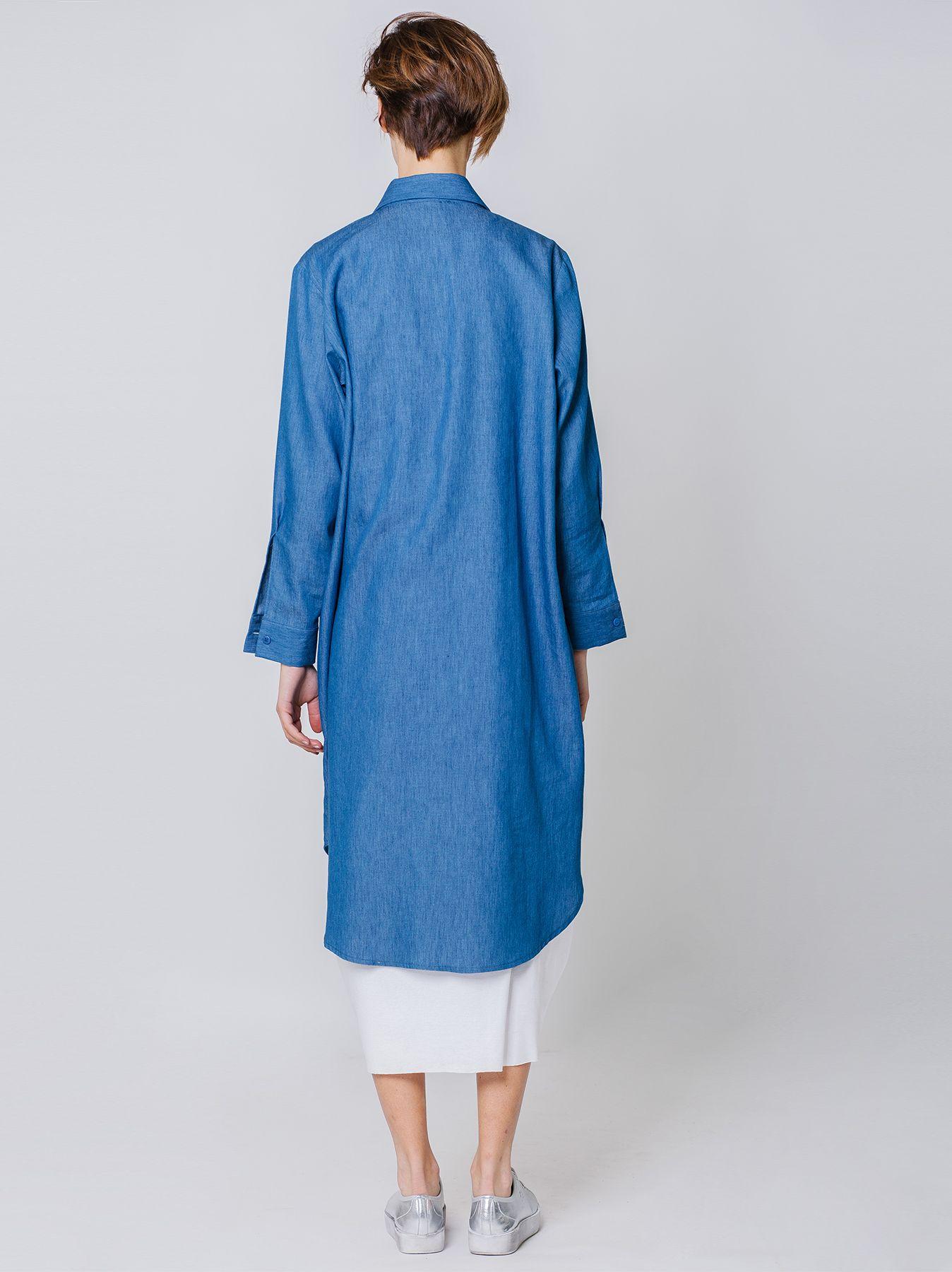 Camicia lunga chambray