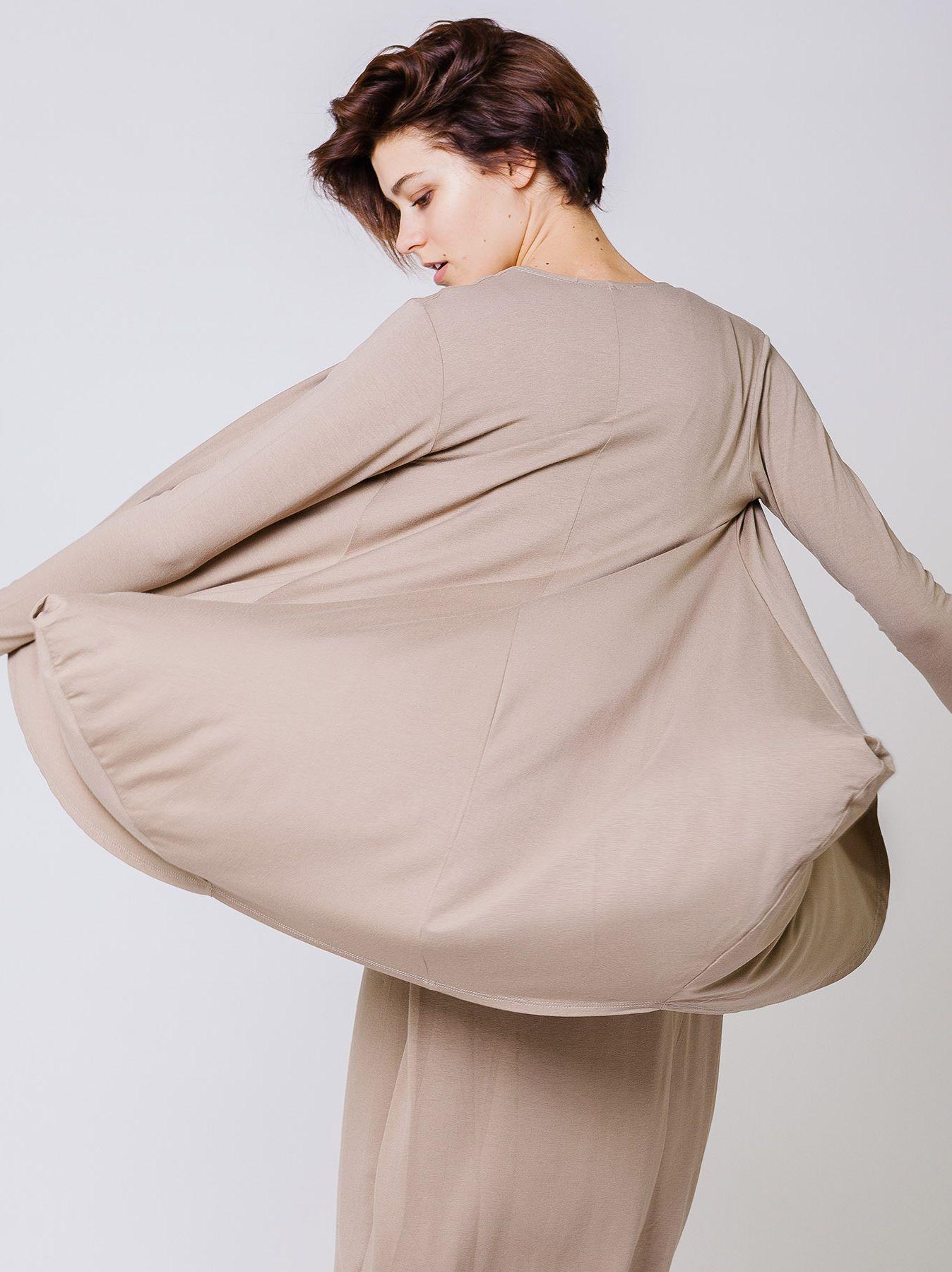 Cardigan con drappeggi laterali
