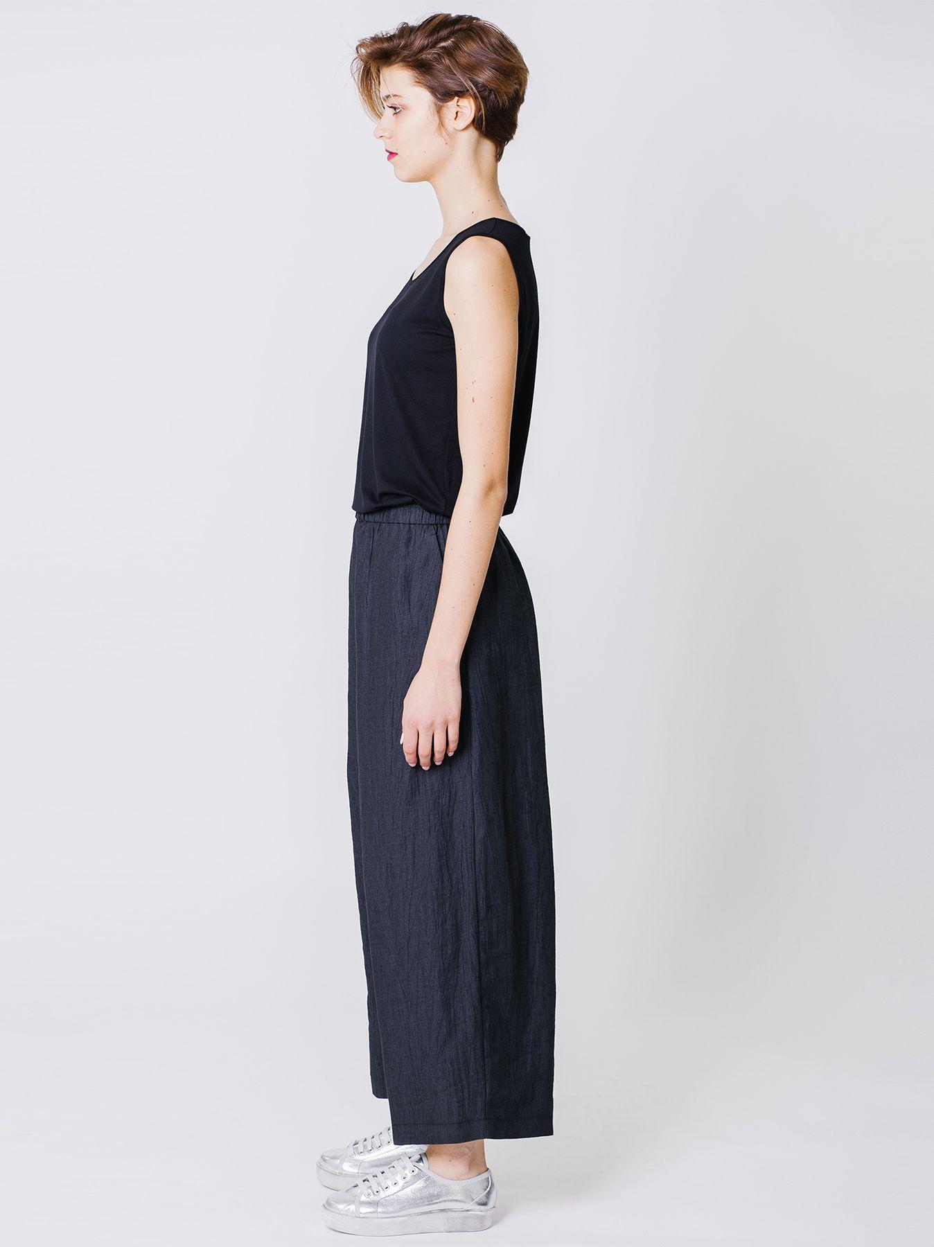 Pantalone cargo in lino cotone