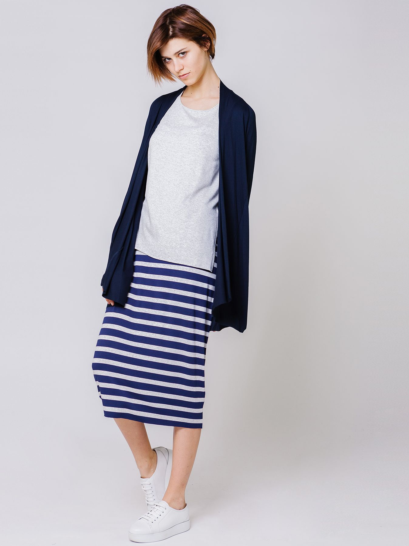 Cardigan lungo in jersey