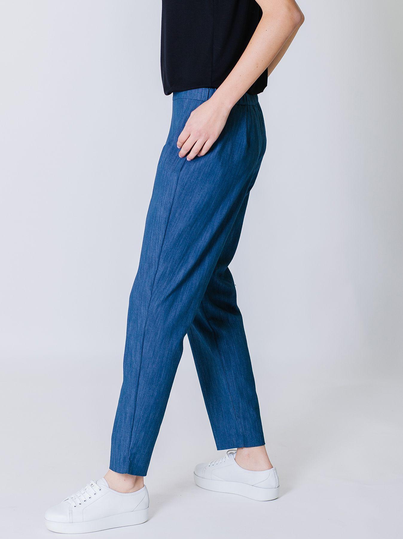 Pantalone a sigaretta in jeans di cotone stretch
