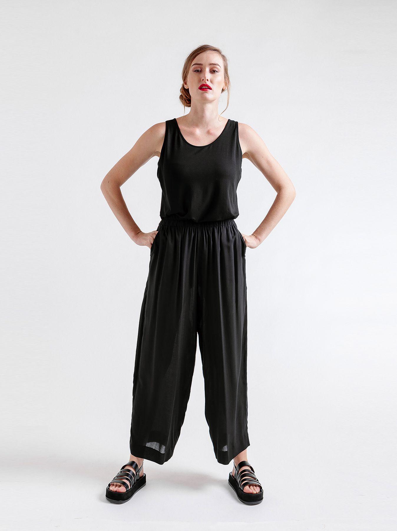 Pantalone cargo in viscosa
