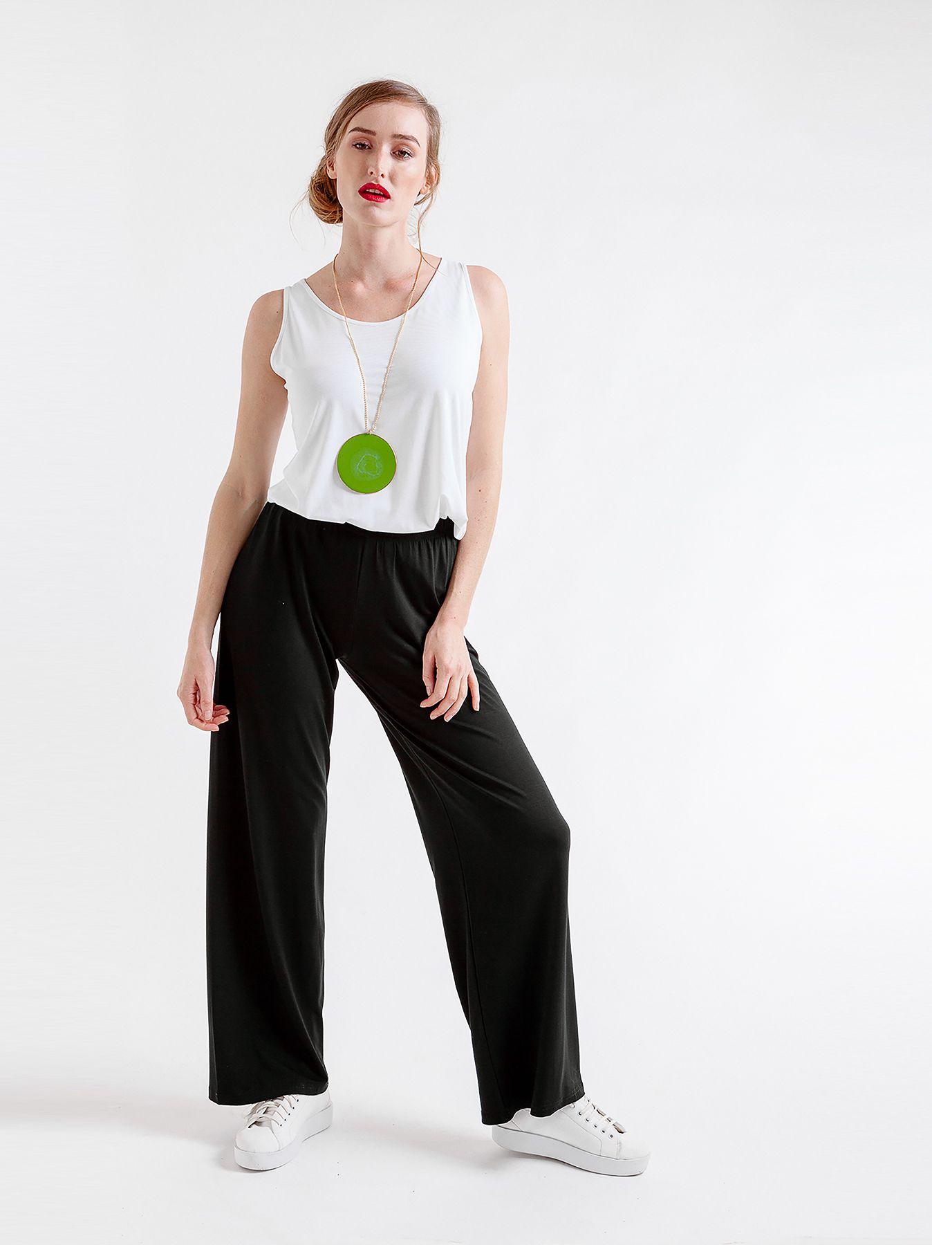 Pantalone elastico in jersey