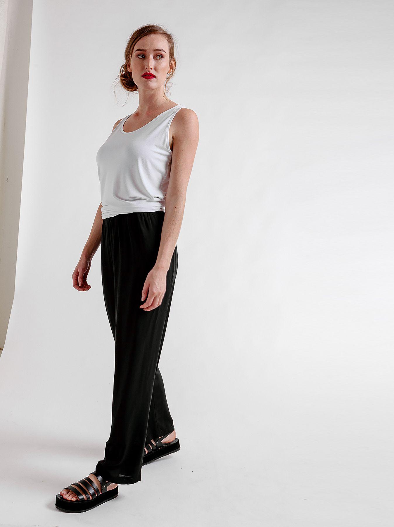 Pantalone elastico in viscosa