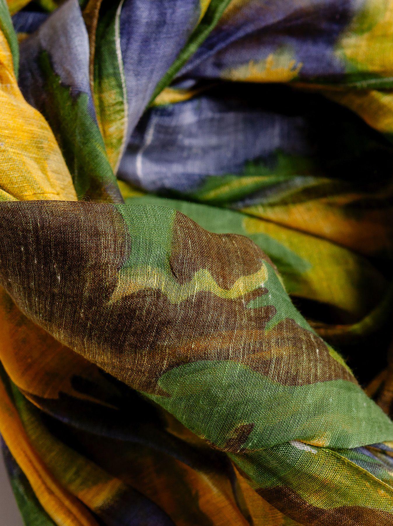 Sciarpa floreale in seta