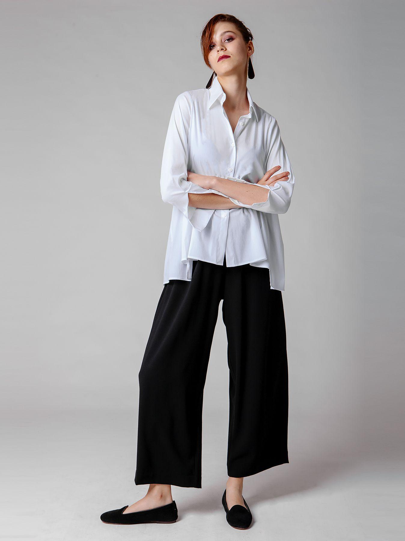 Camicia in cotone elasticizzato
