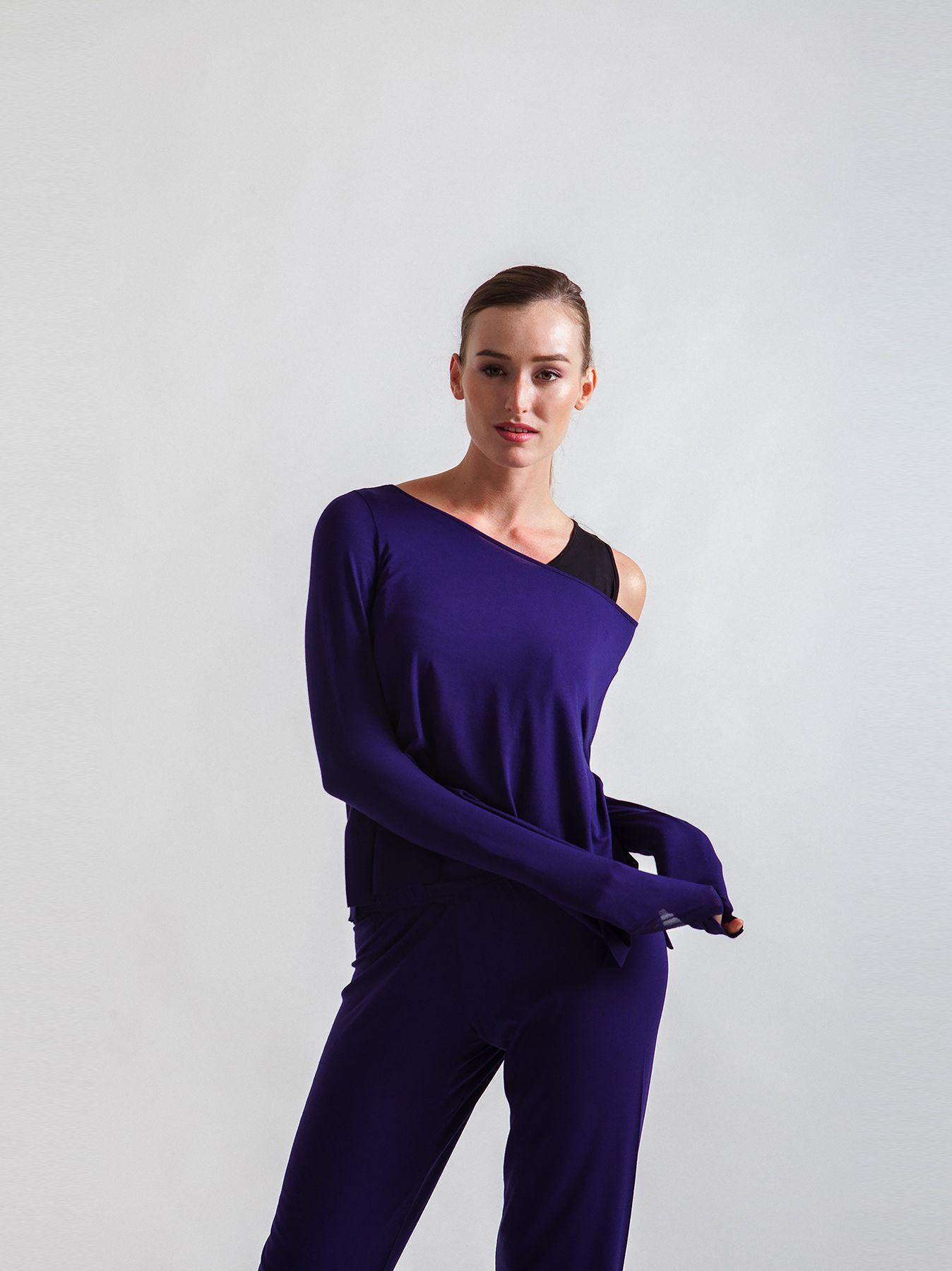 T-shirt scatoletta viola