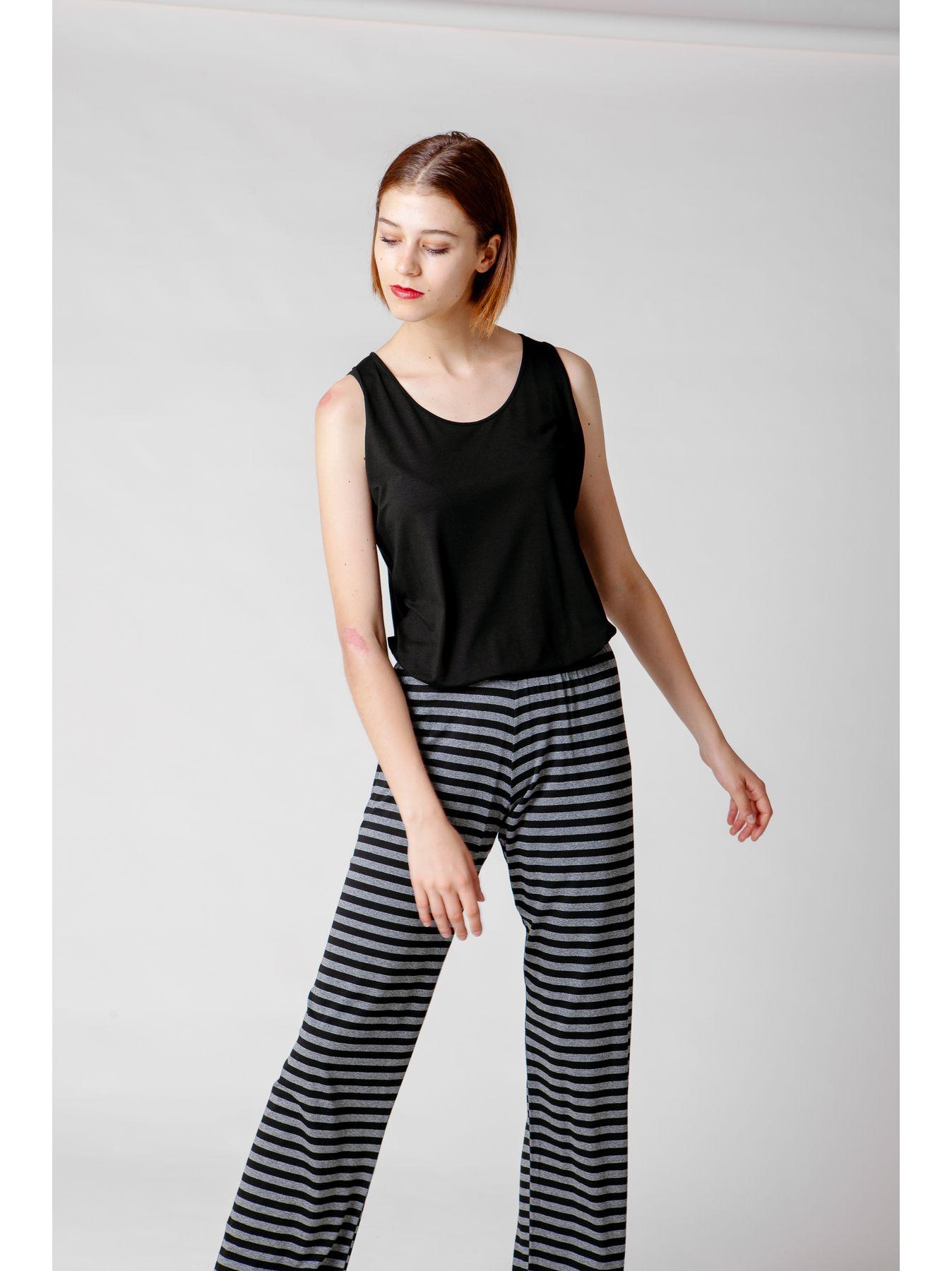 Pantalone elastico a righe