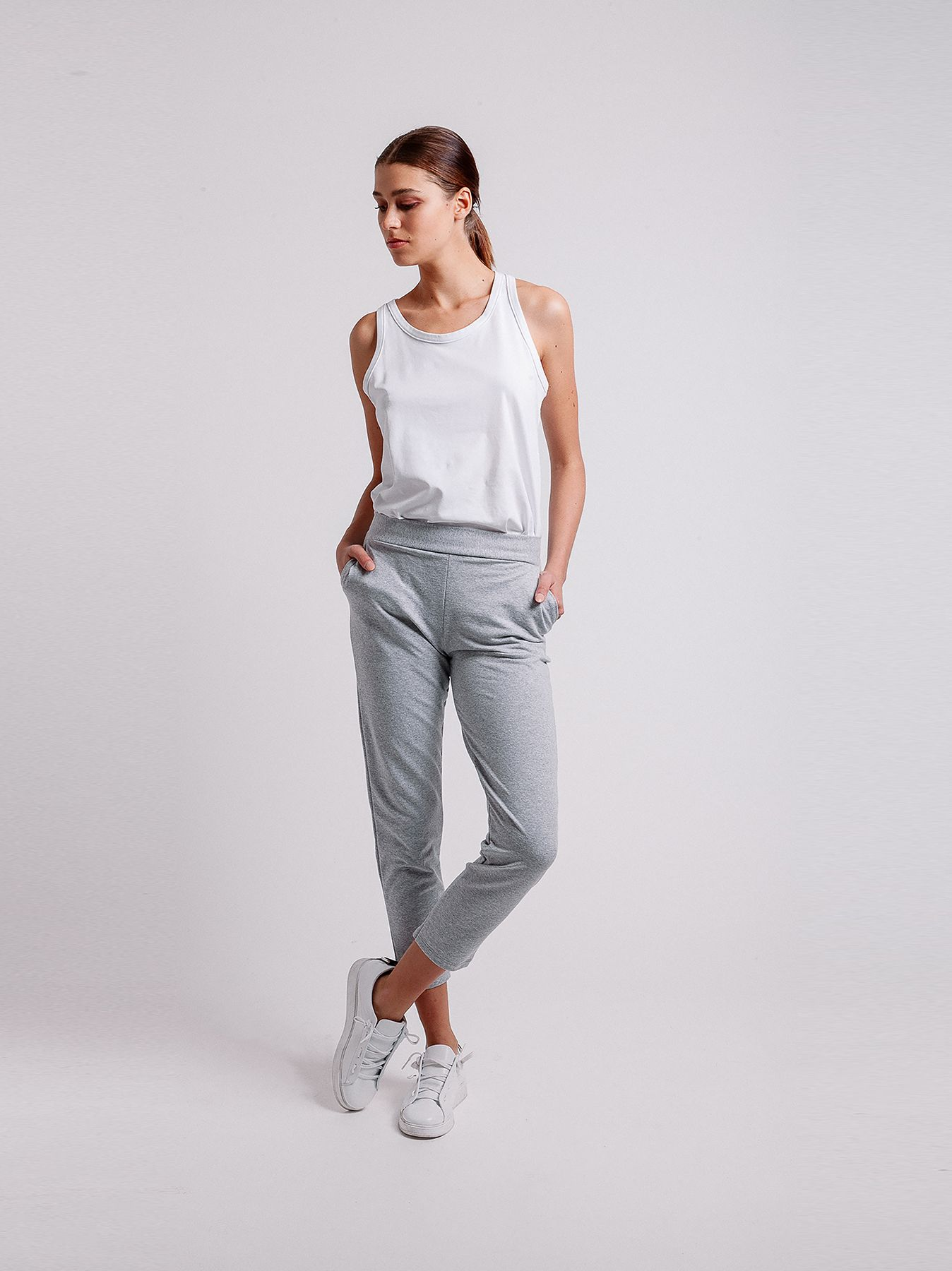 Pantalone skinny in felpa