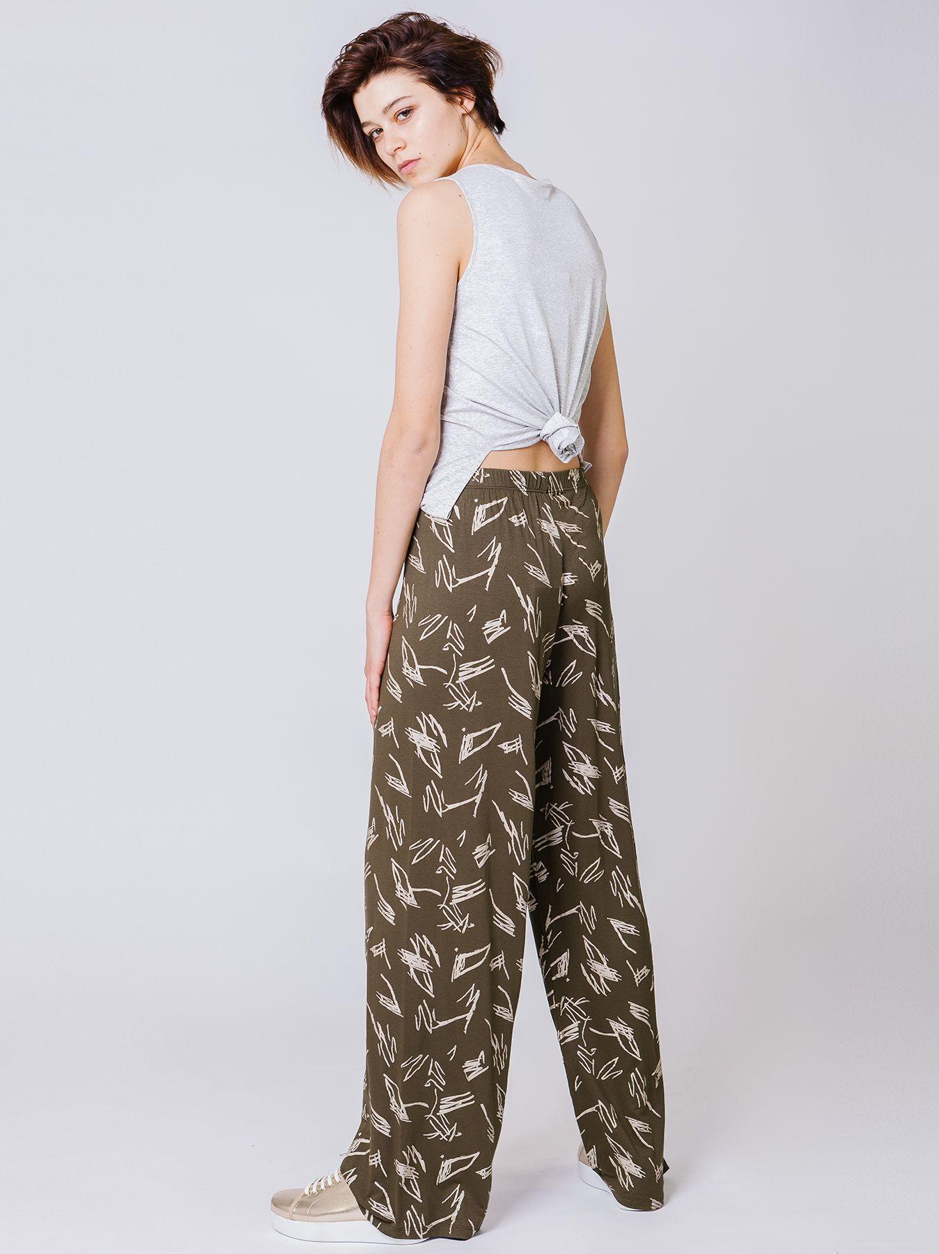 Pantalone elastico stampa Sketch