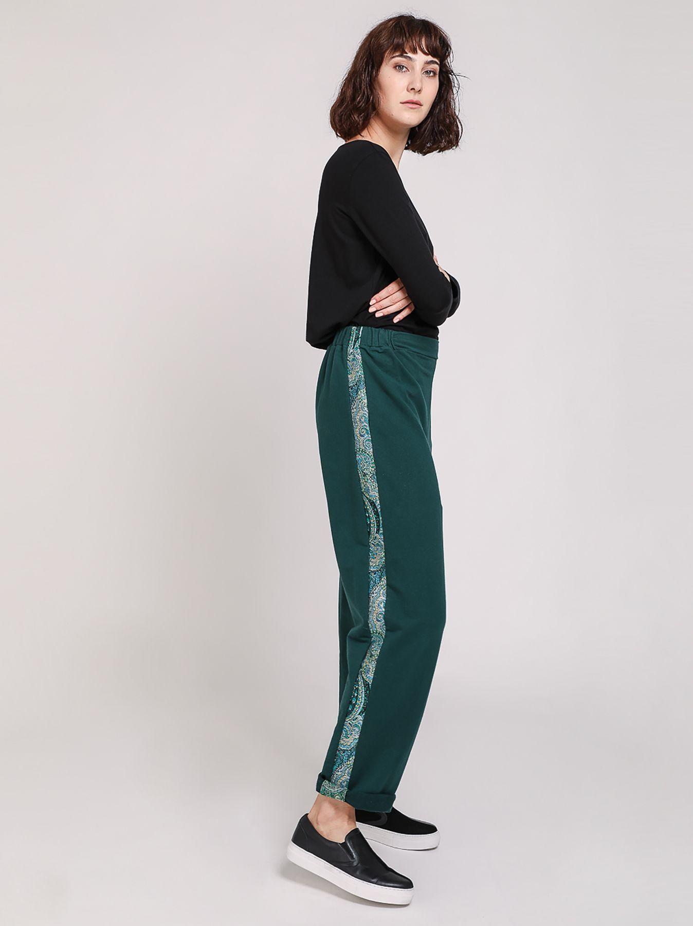 Pantalone in felpa con banda paisley