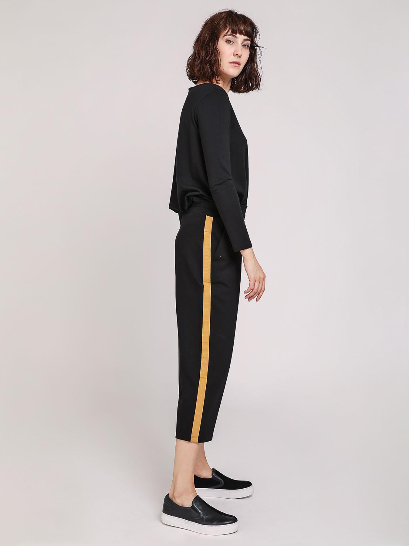 Pantalone con banda laterale