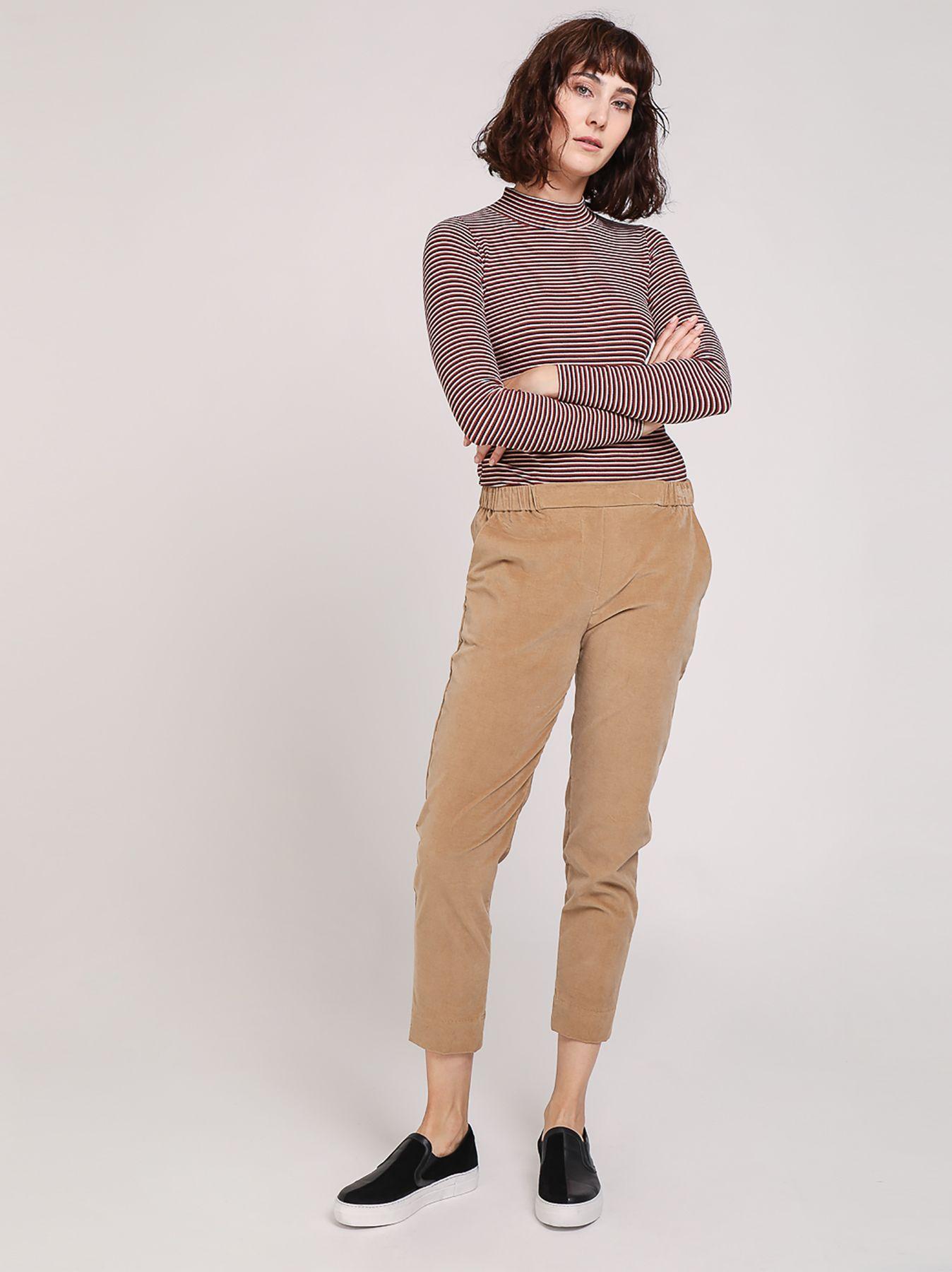 Pantalone chino effetto velluto