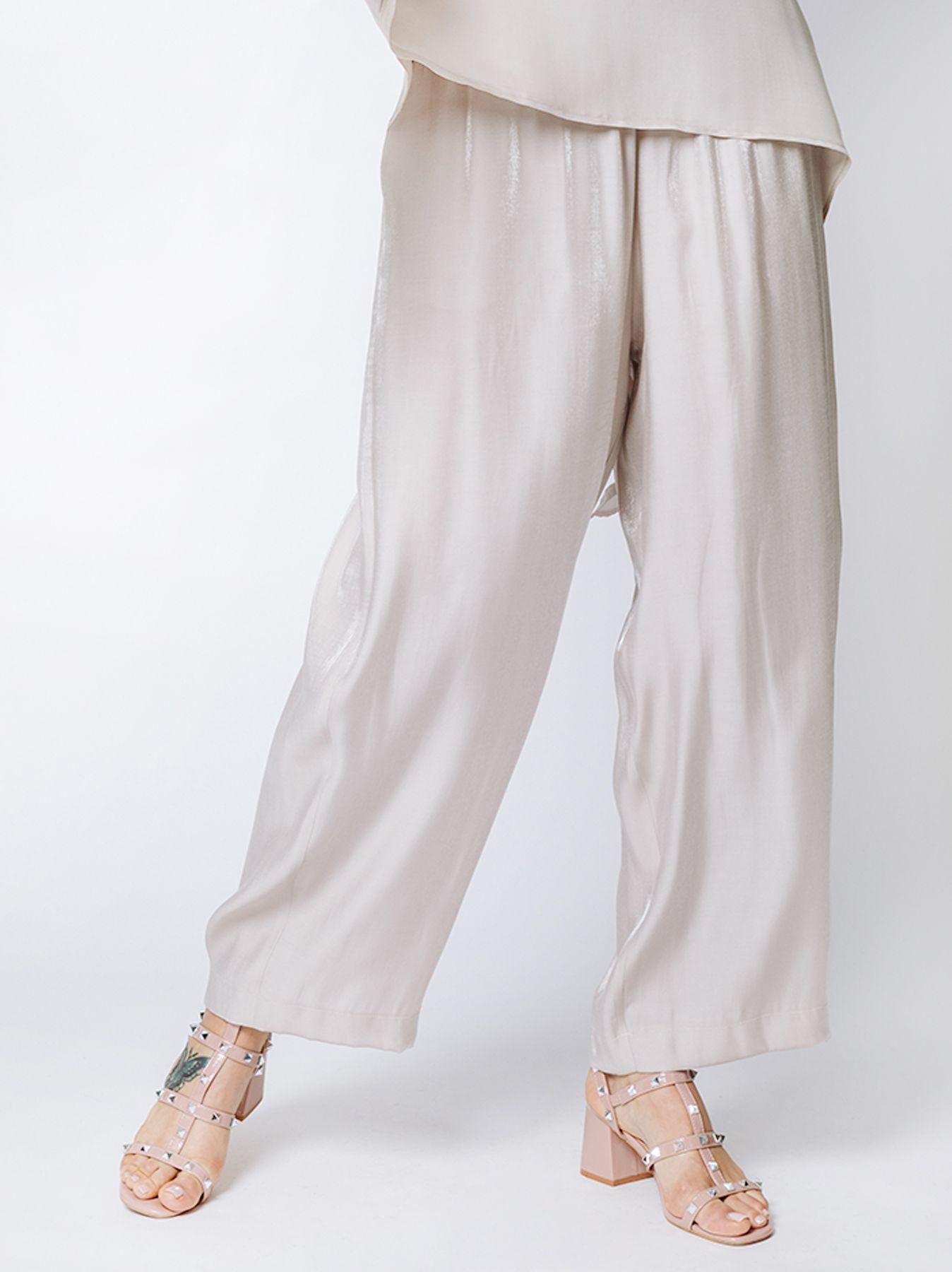 Pantalone gaucho EFFETTO SATINATO