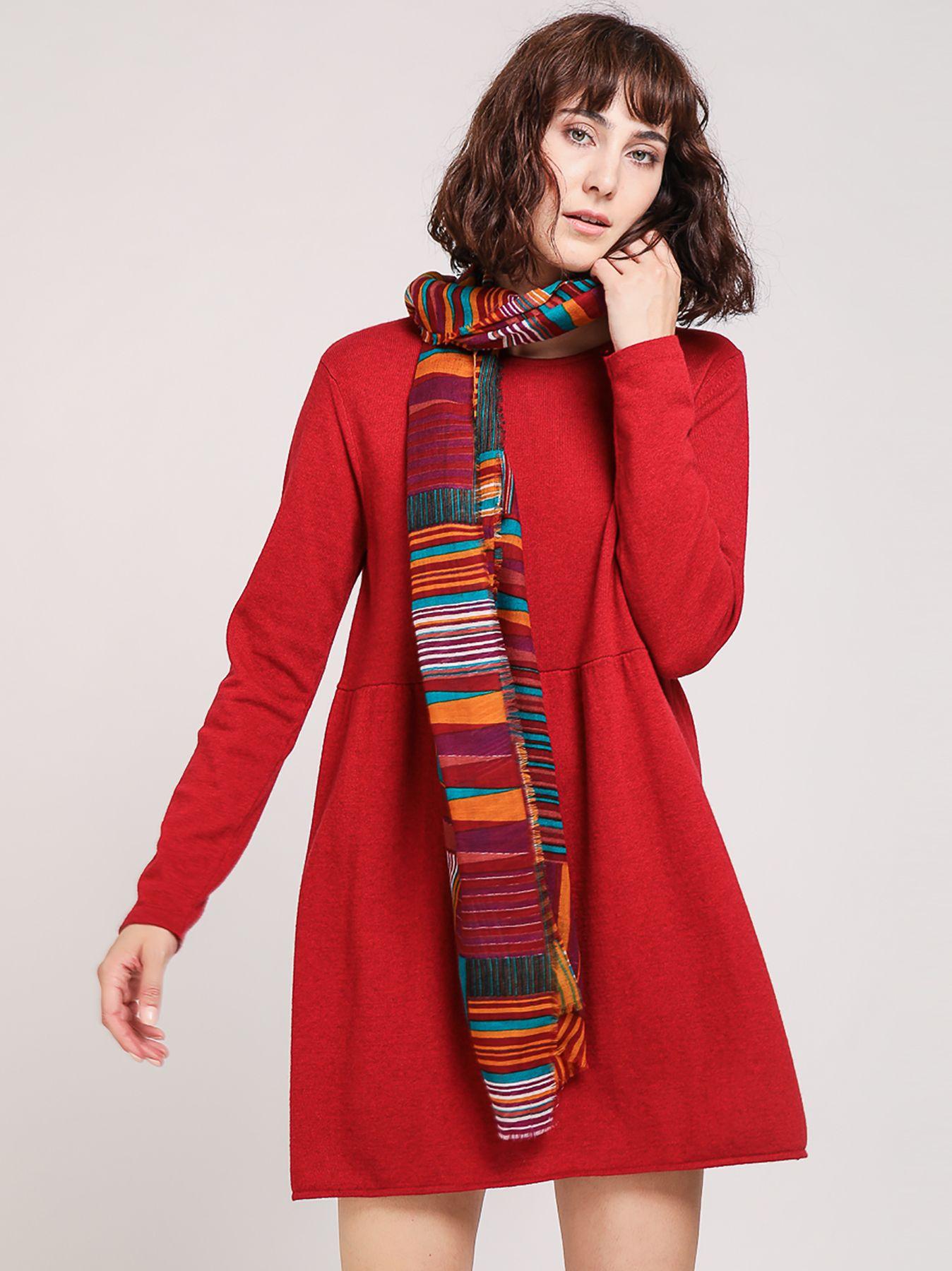Abito corto in maglia