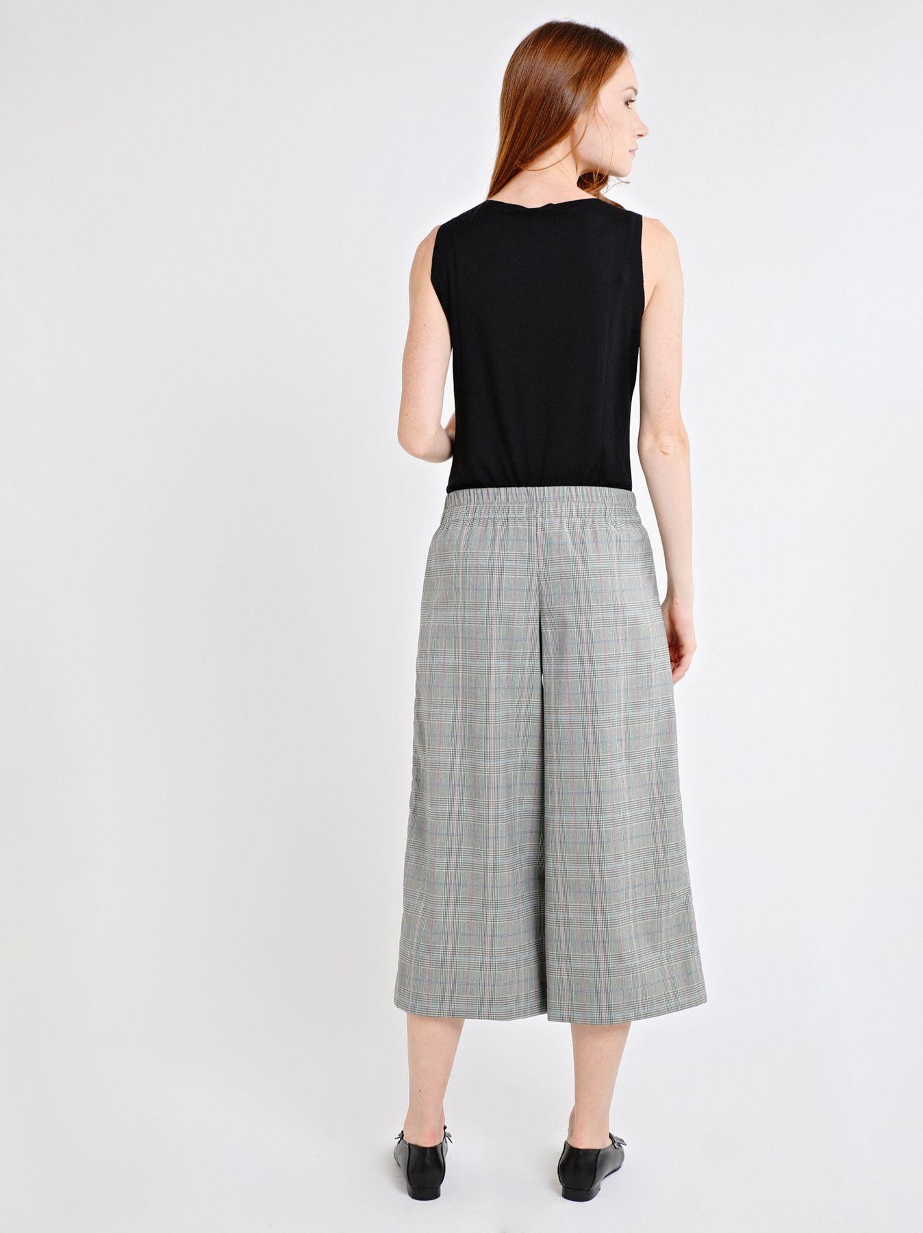 Falda pantalón con cuadros escoceses