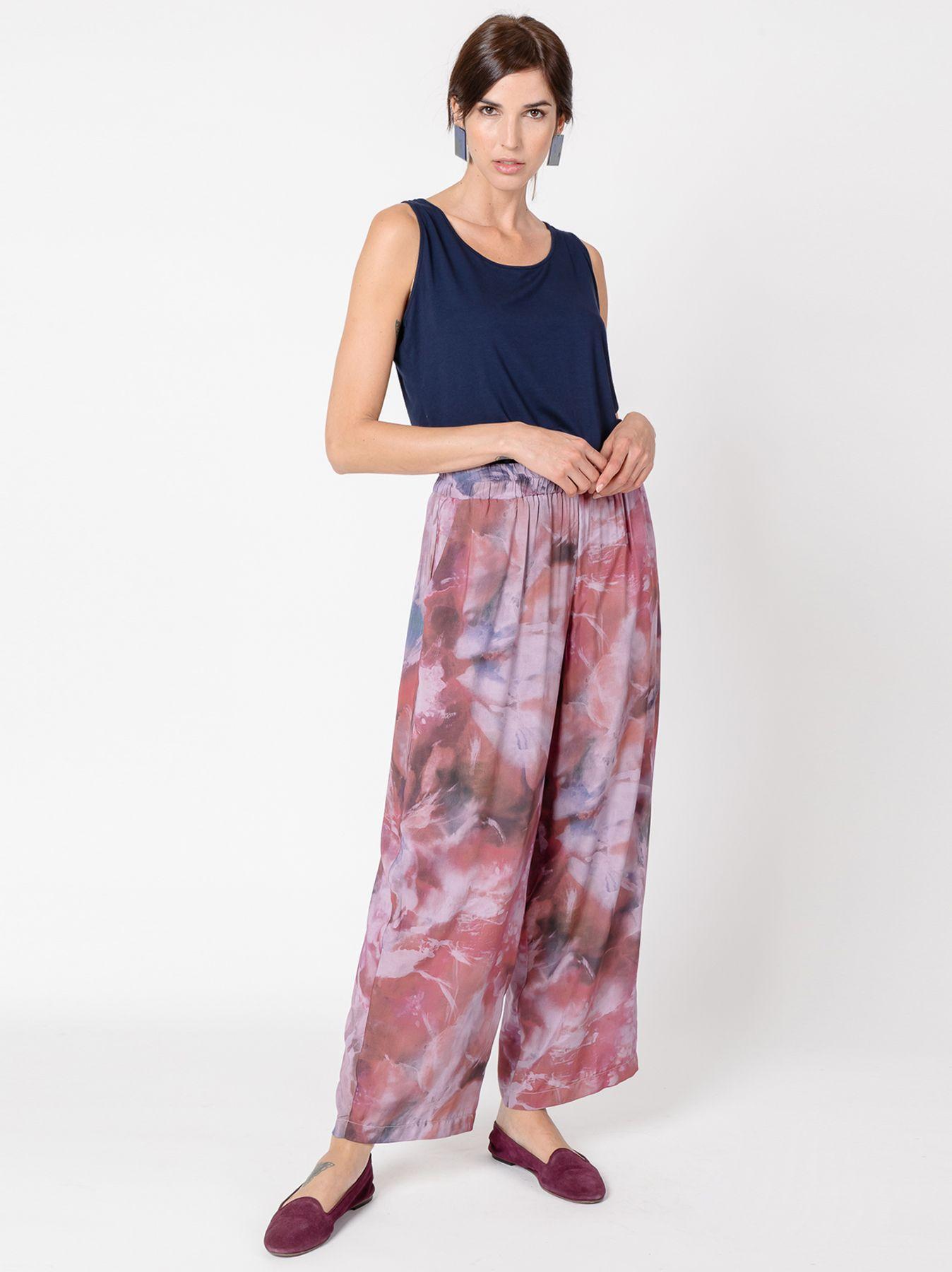 Pantalone gaucho stampa sfumata FOGGY