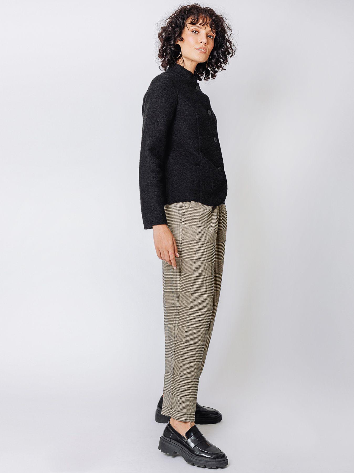 Blazer in lana cotta
