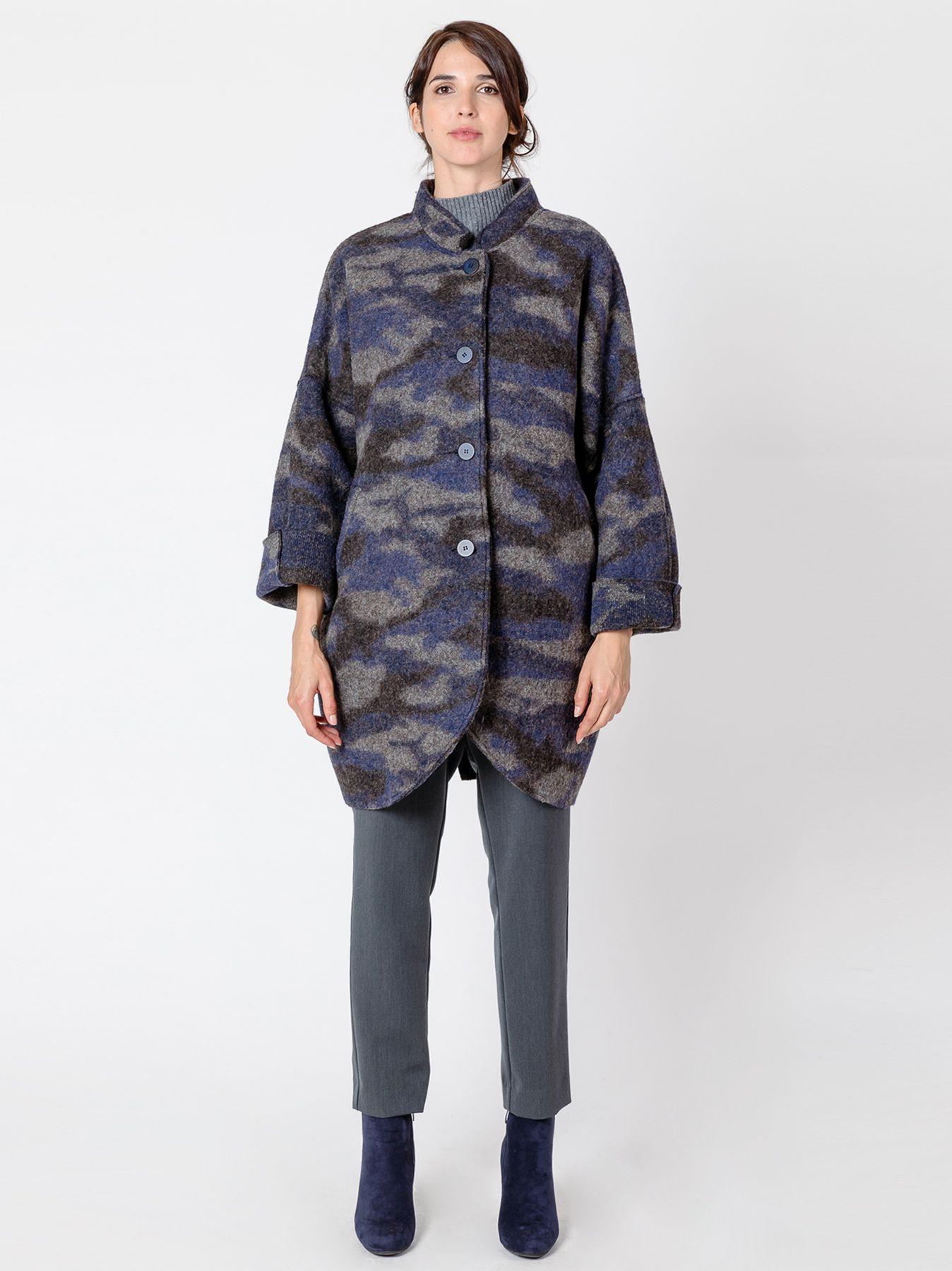 Over coat in lana cotta