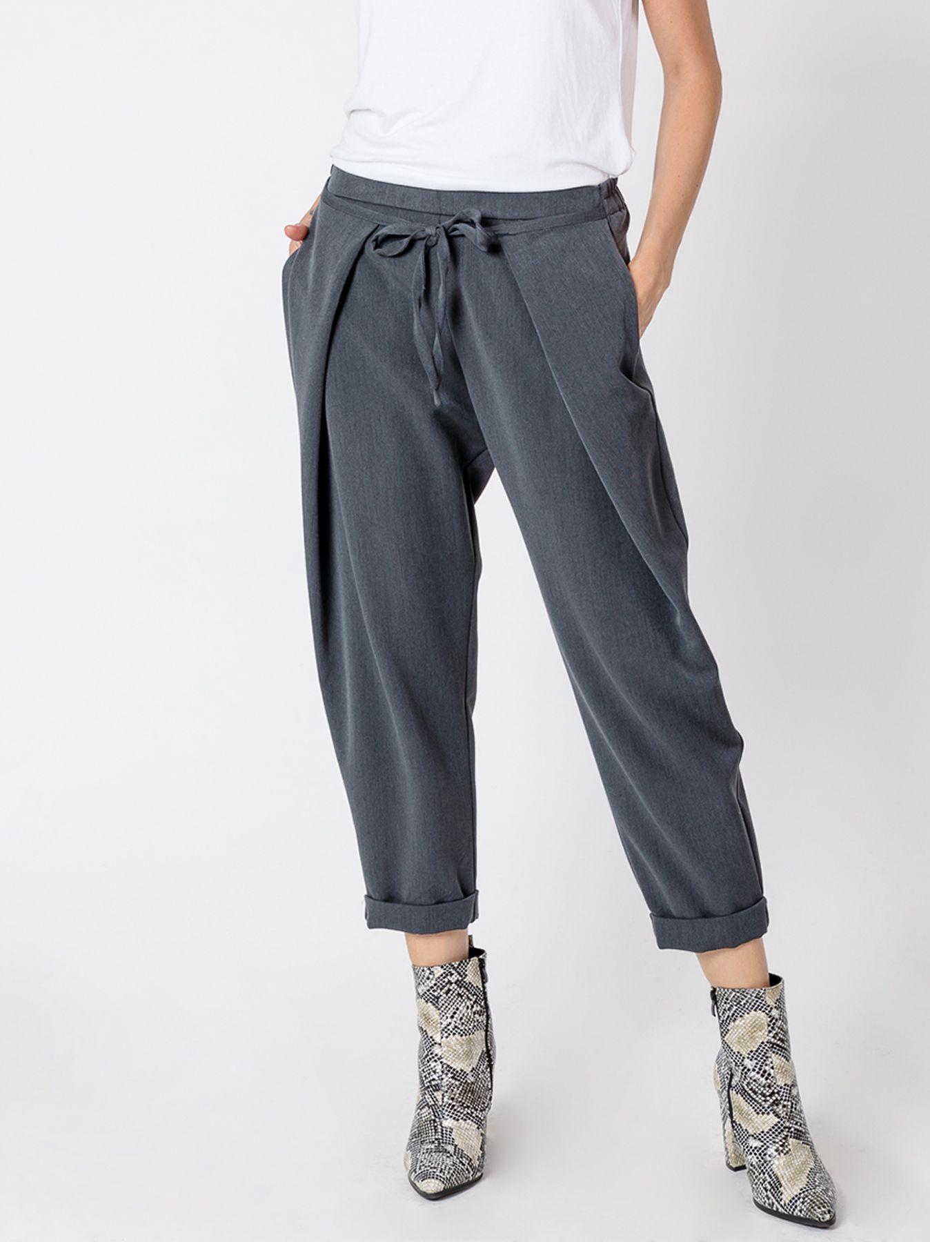 Pantalone morbido in crepe