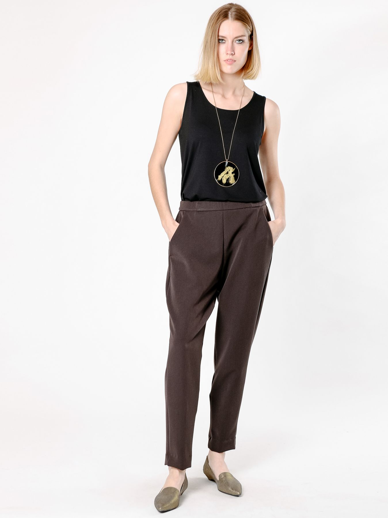 Pantalone chino marrone