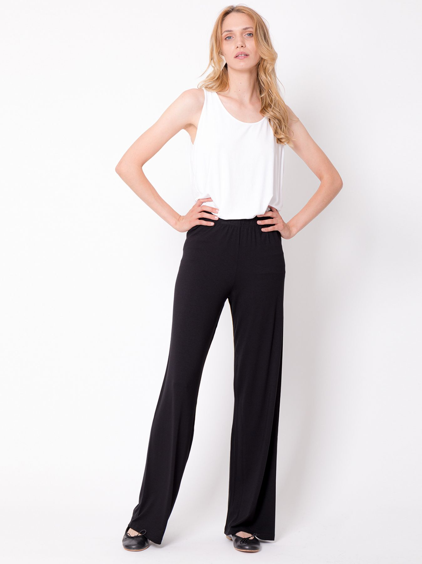 Pantalone elastico NERO
