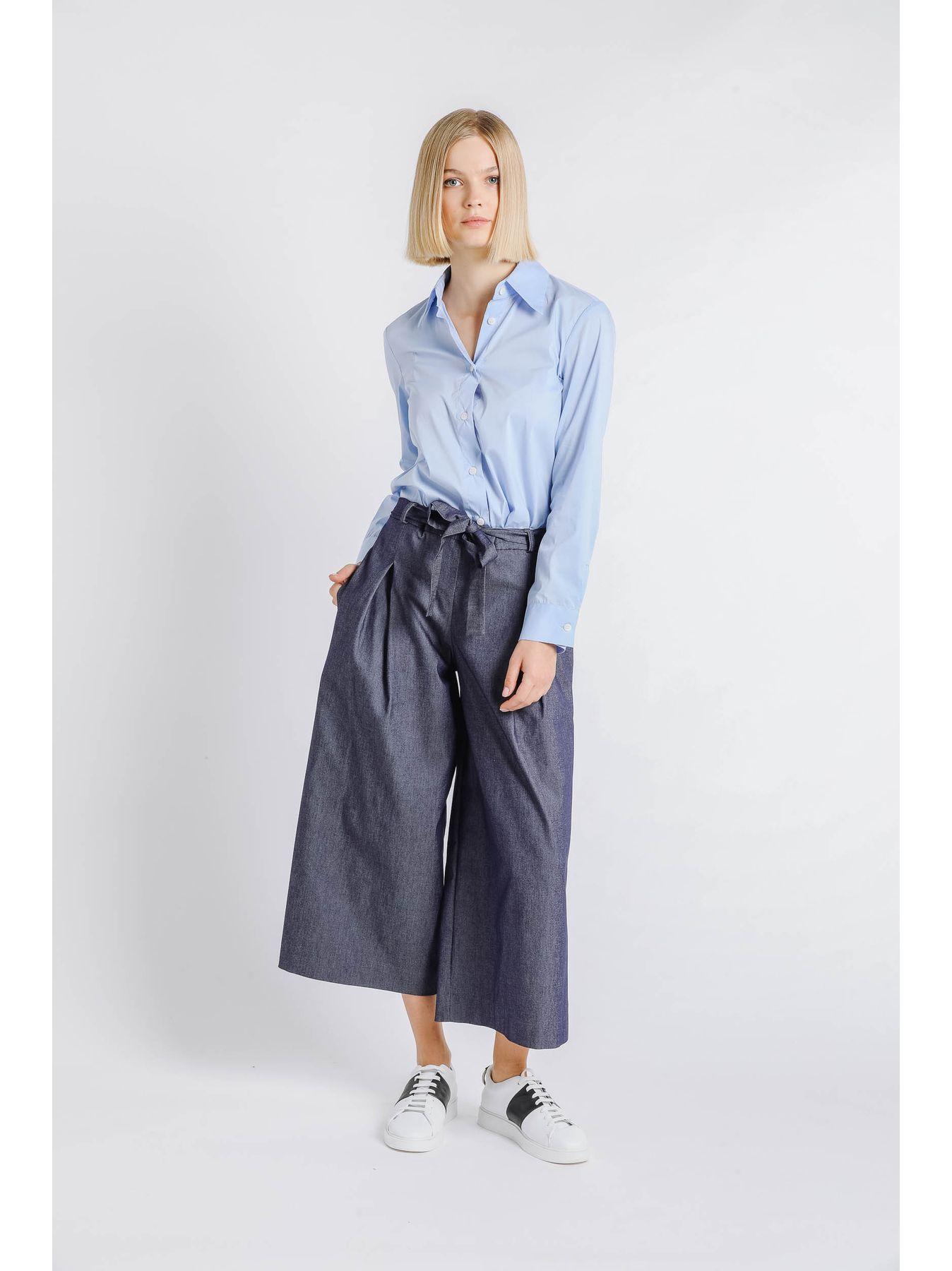 Pantalone pinces in denim