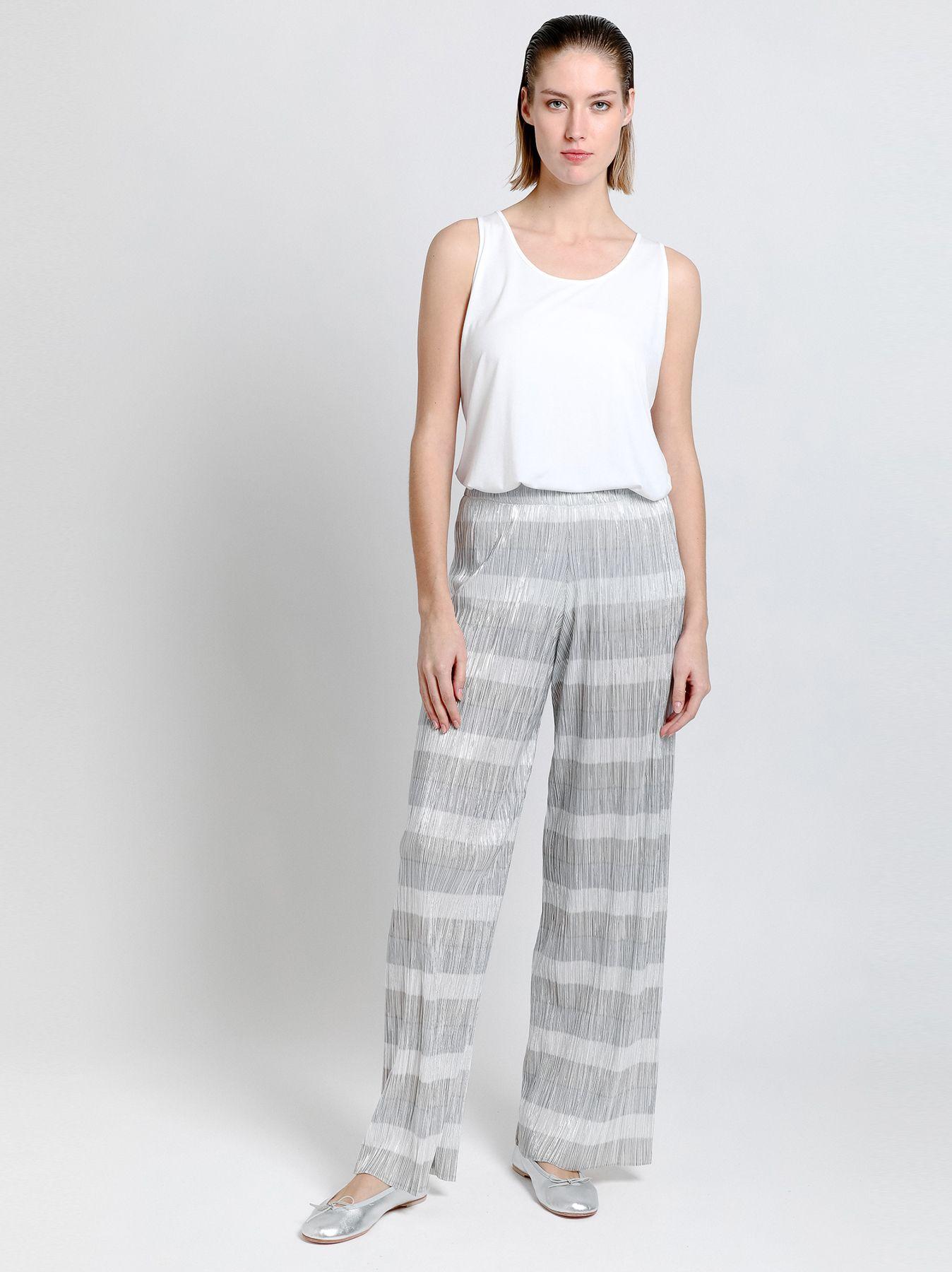 Pantalone palazzo plissé