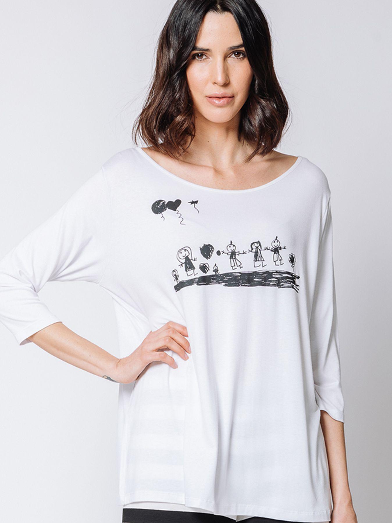 T-shirt con disegno BIMBI