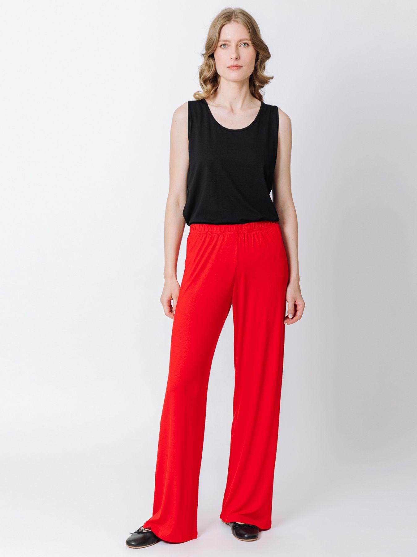 Pantalone elastico ROSSO