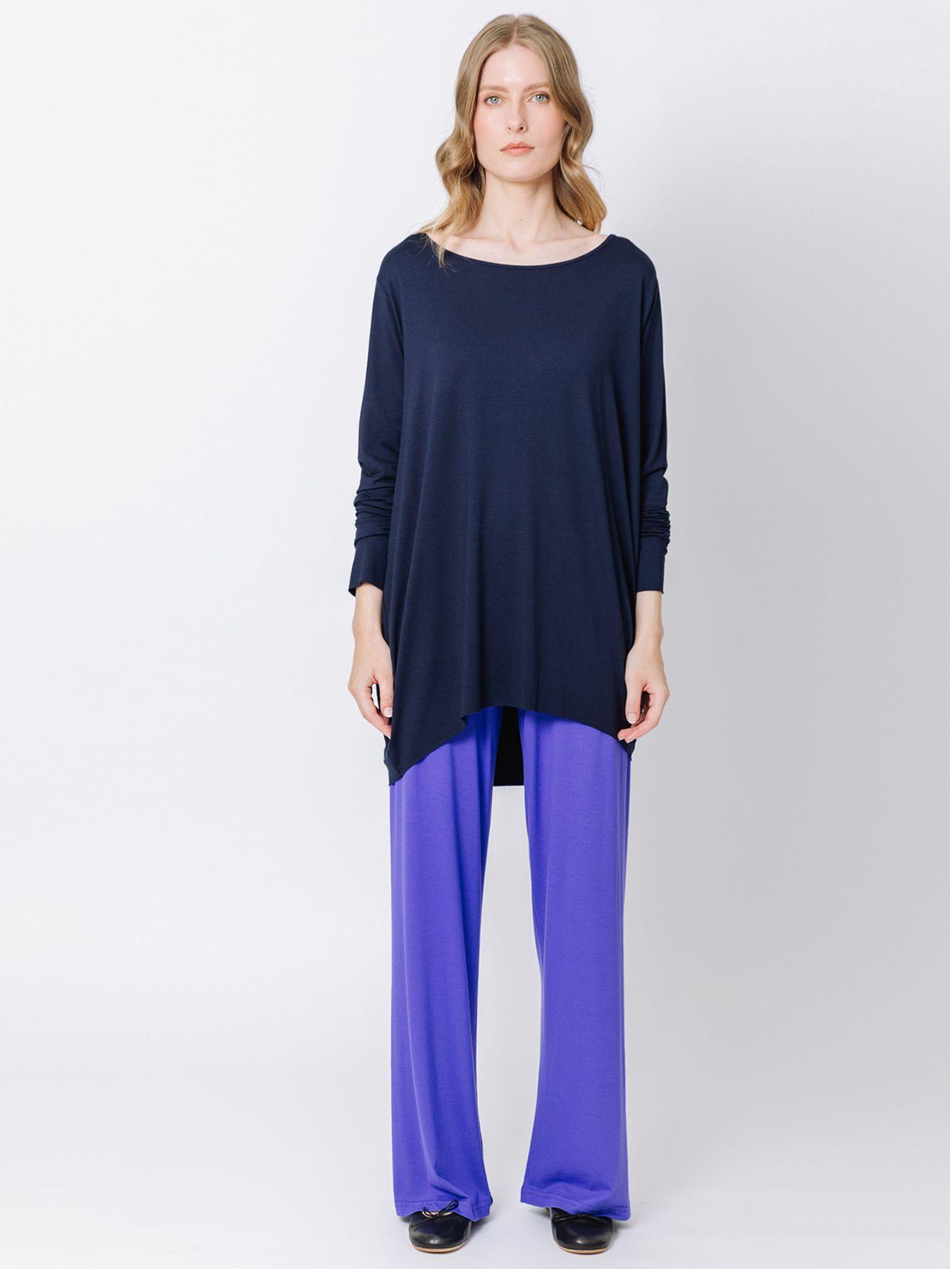 T-shirt ovetto BLU maniche lunghe