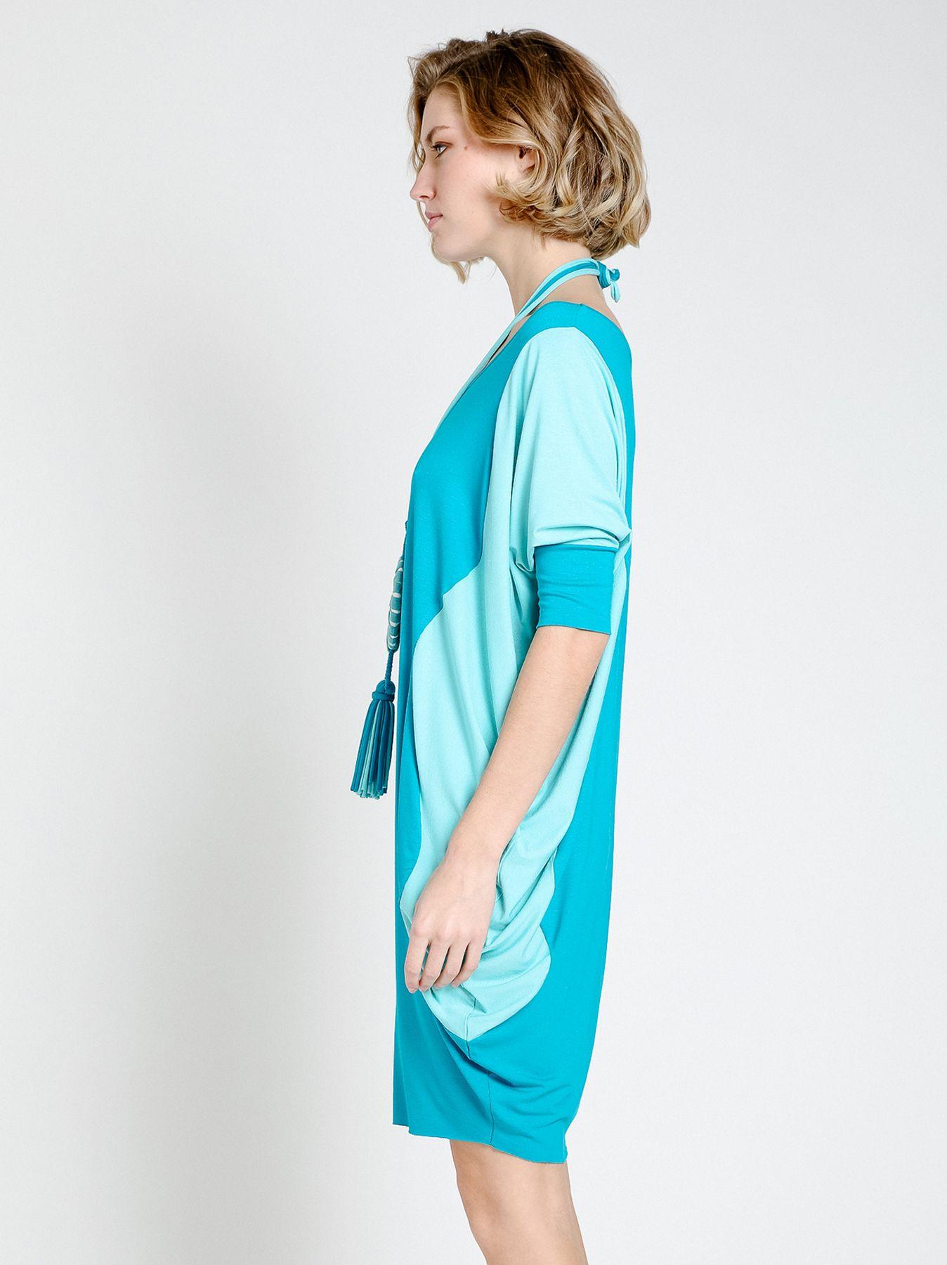 Vestido camisero dos tonos