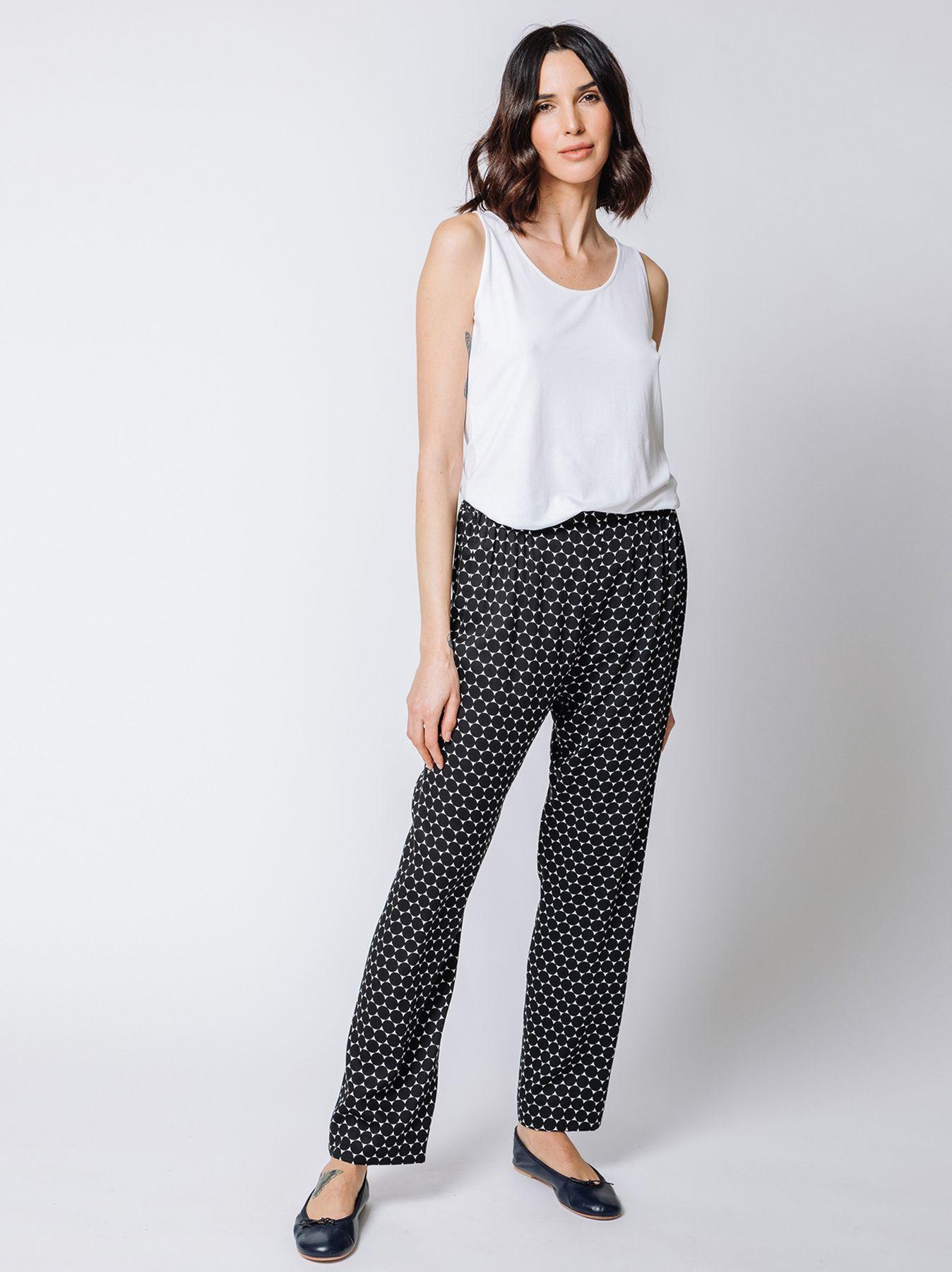 Pantalone con stampa OPTICAL