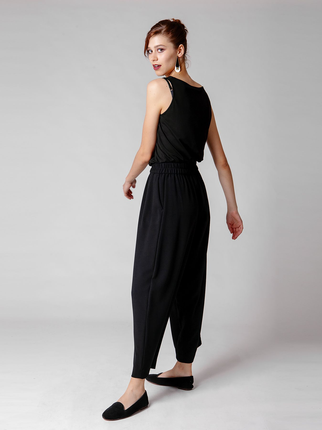 Pantalone cargo nero