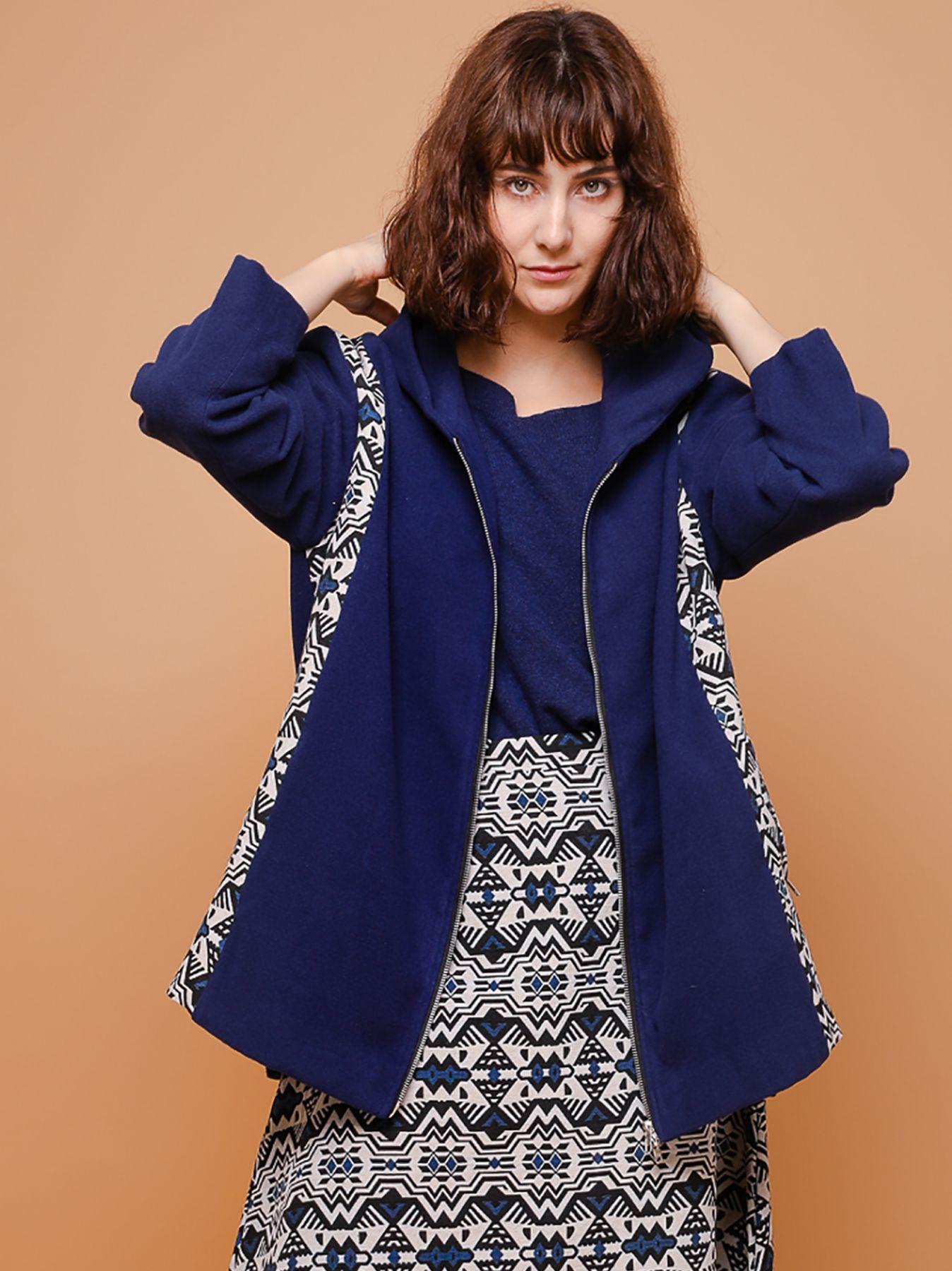 Cappotto in velour di lana