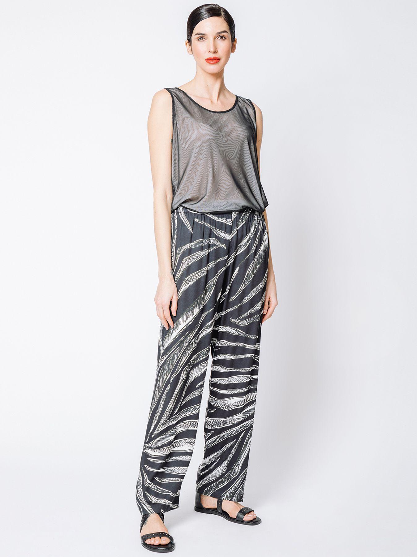 Pantalone morbido con stampa JUNGLE FEVER
