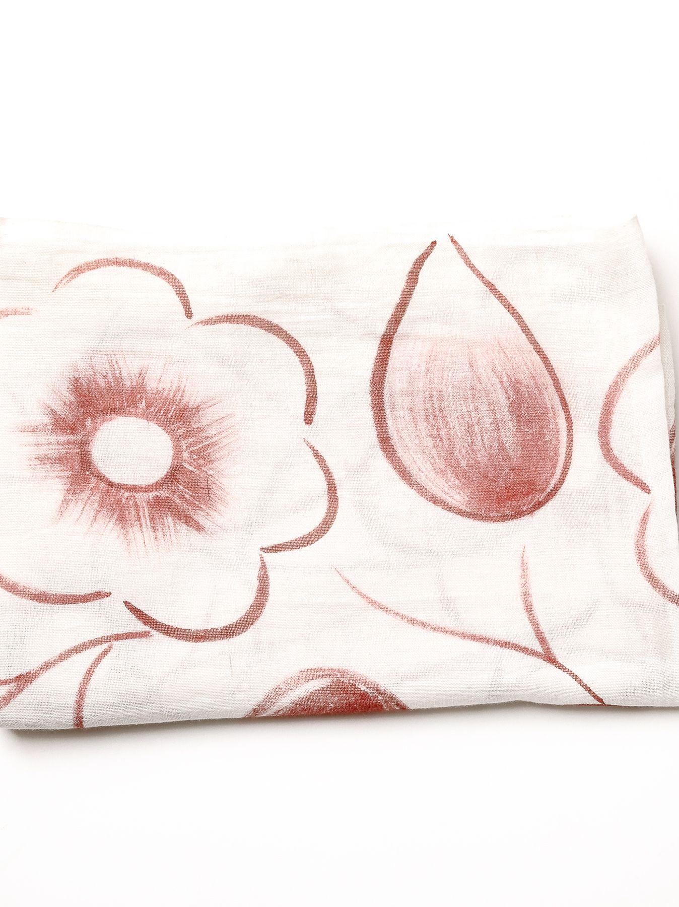 Sciarpa fiori stilizzati