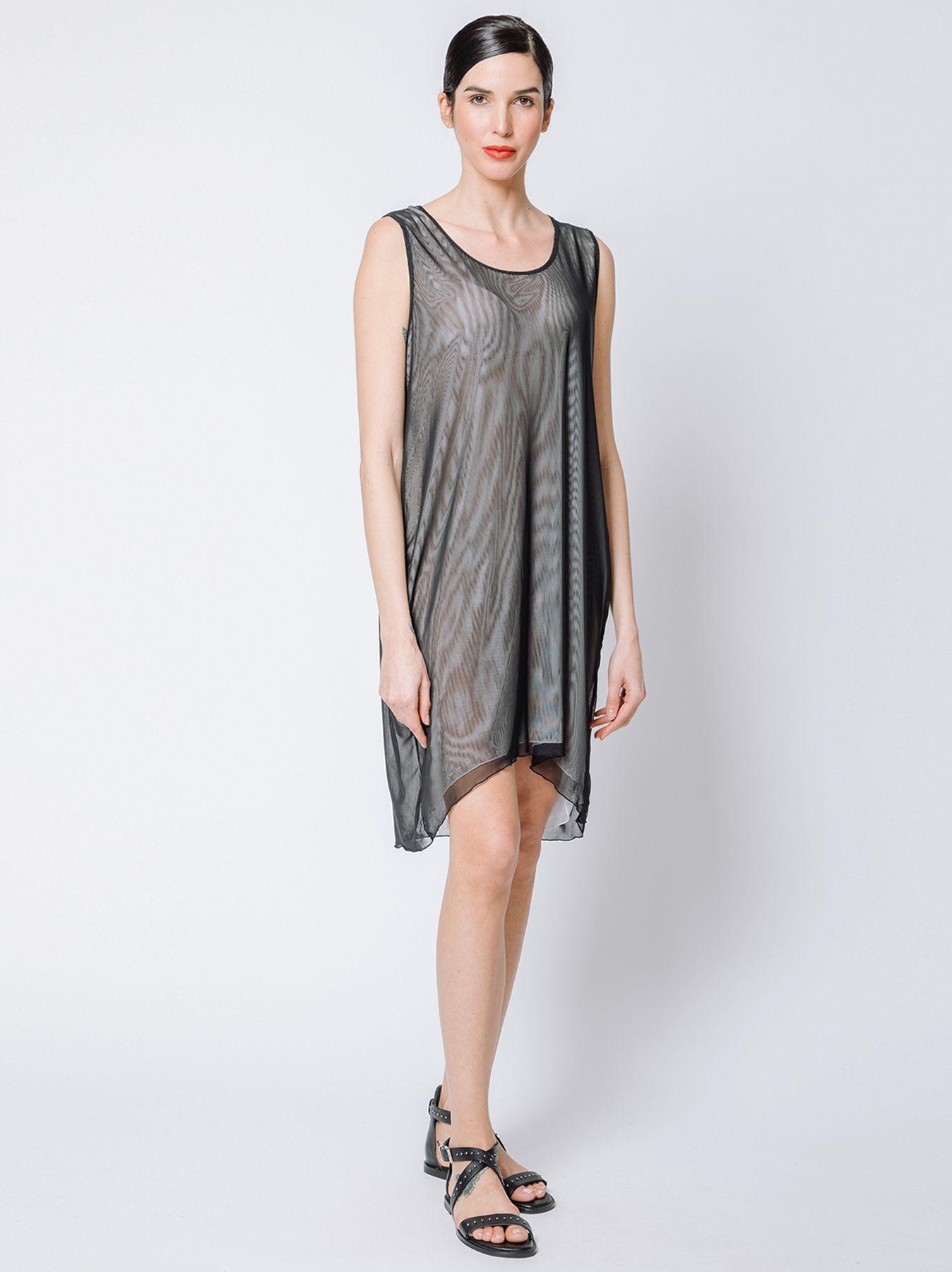 Mini dress in doppio strato di tulle
