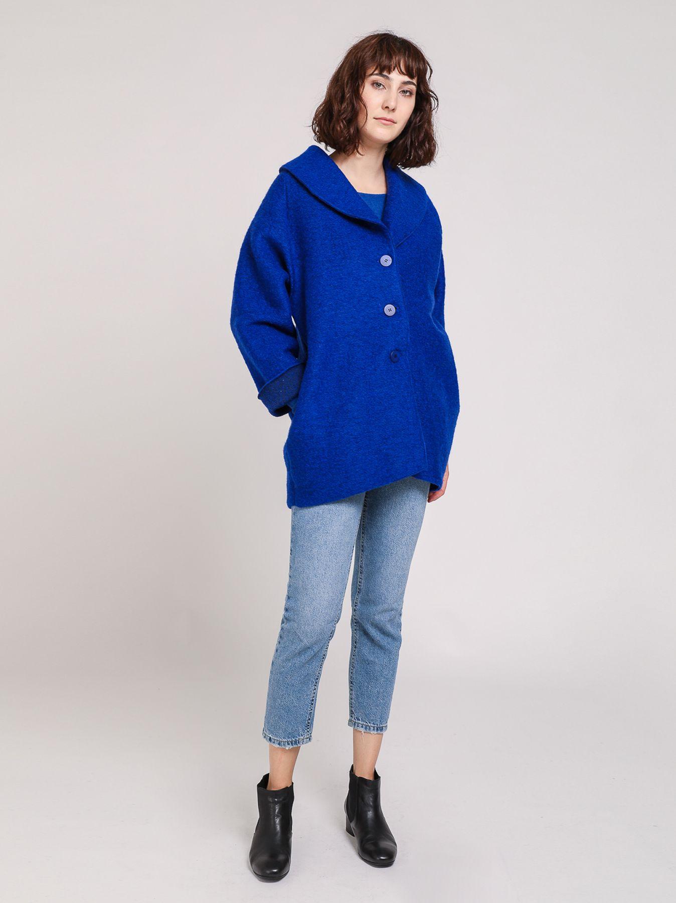 Giaccone in lana cotta
