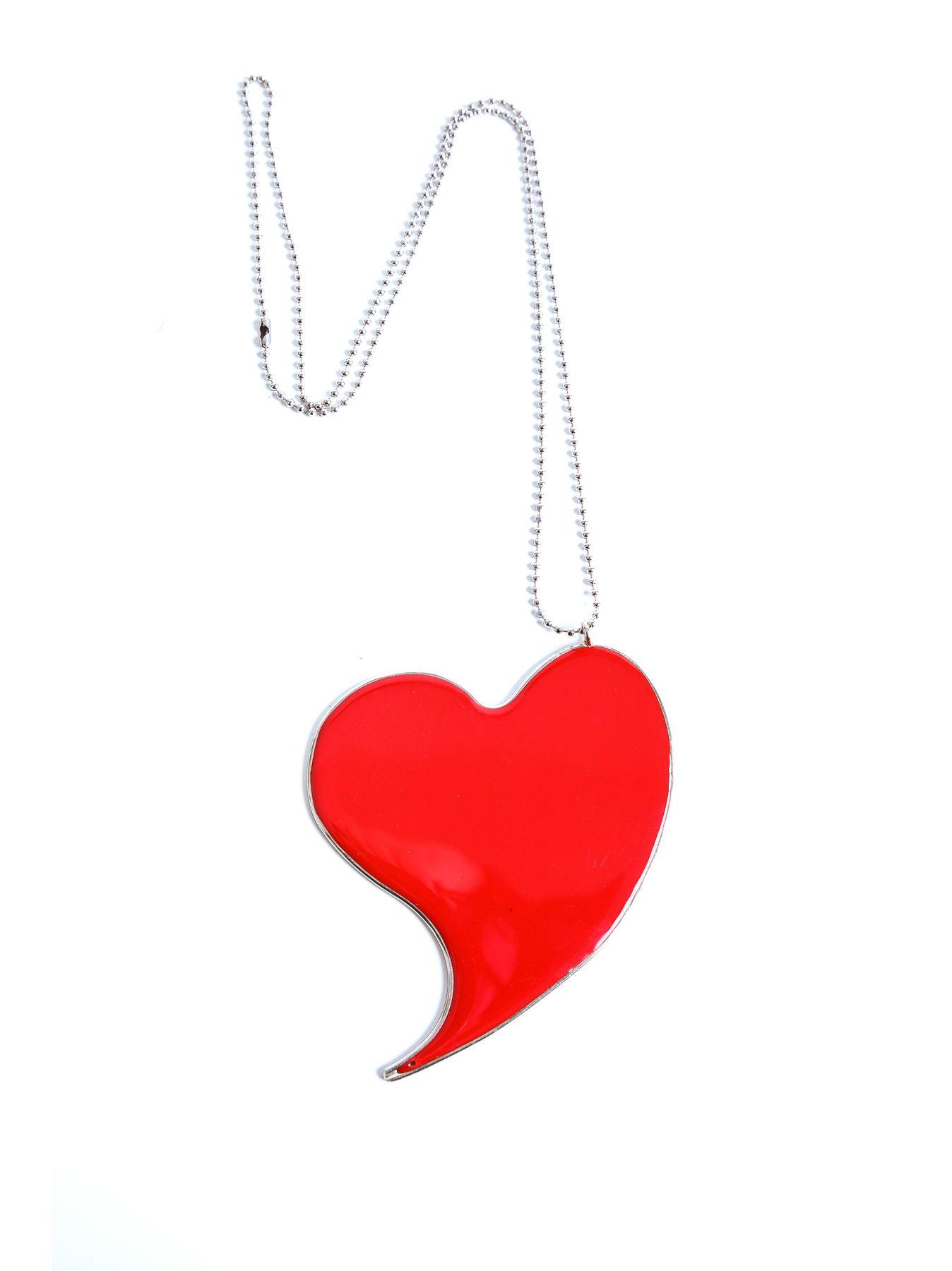 Collana cuore in resina irregolare