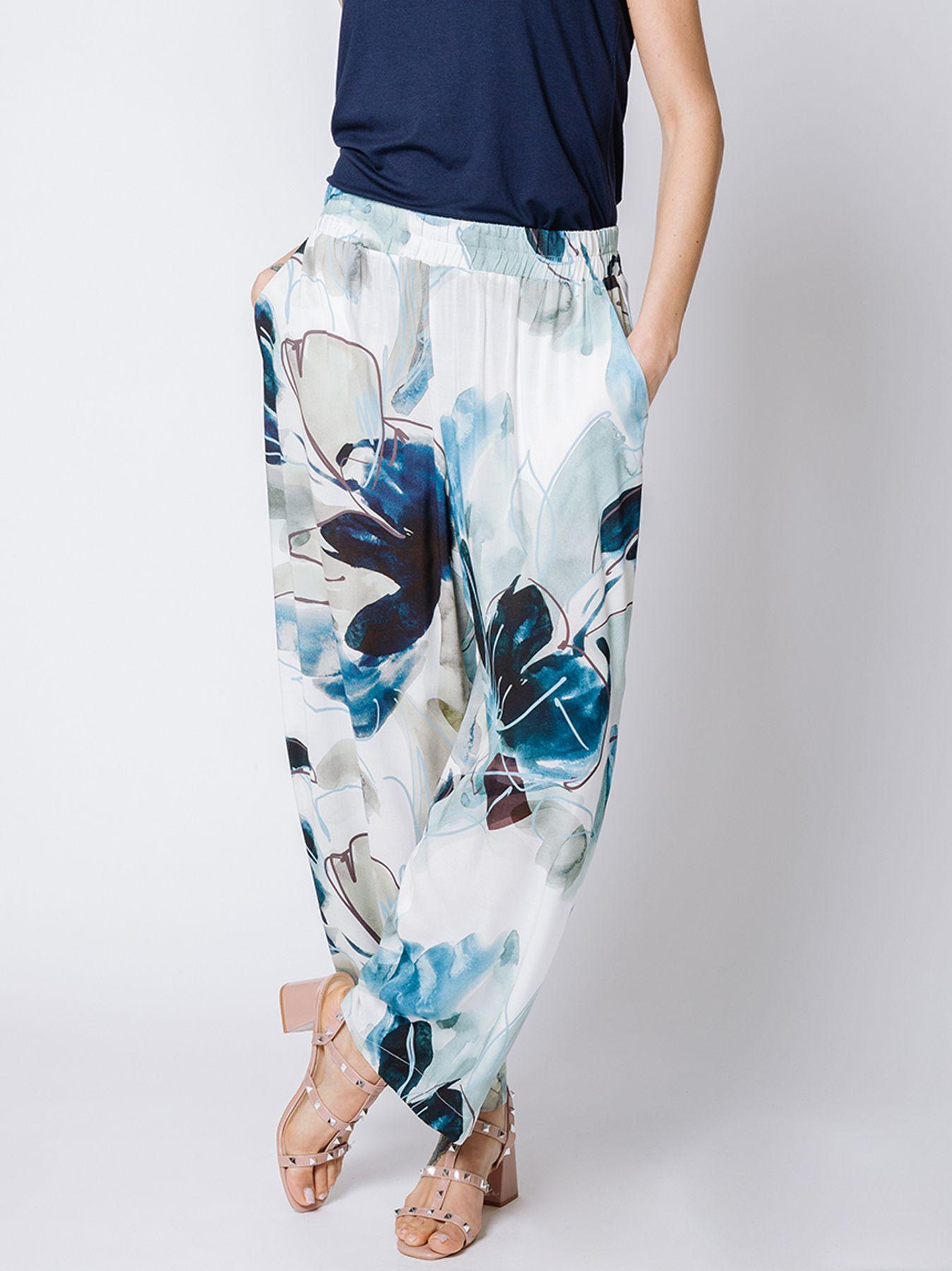 Pantalone gaucho stampa romantica