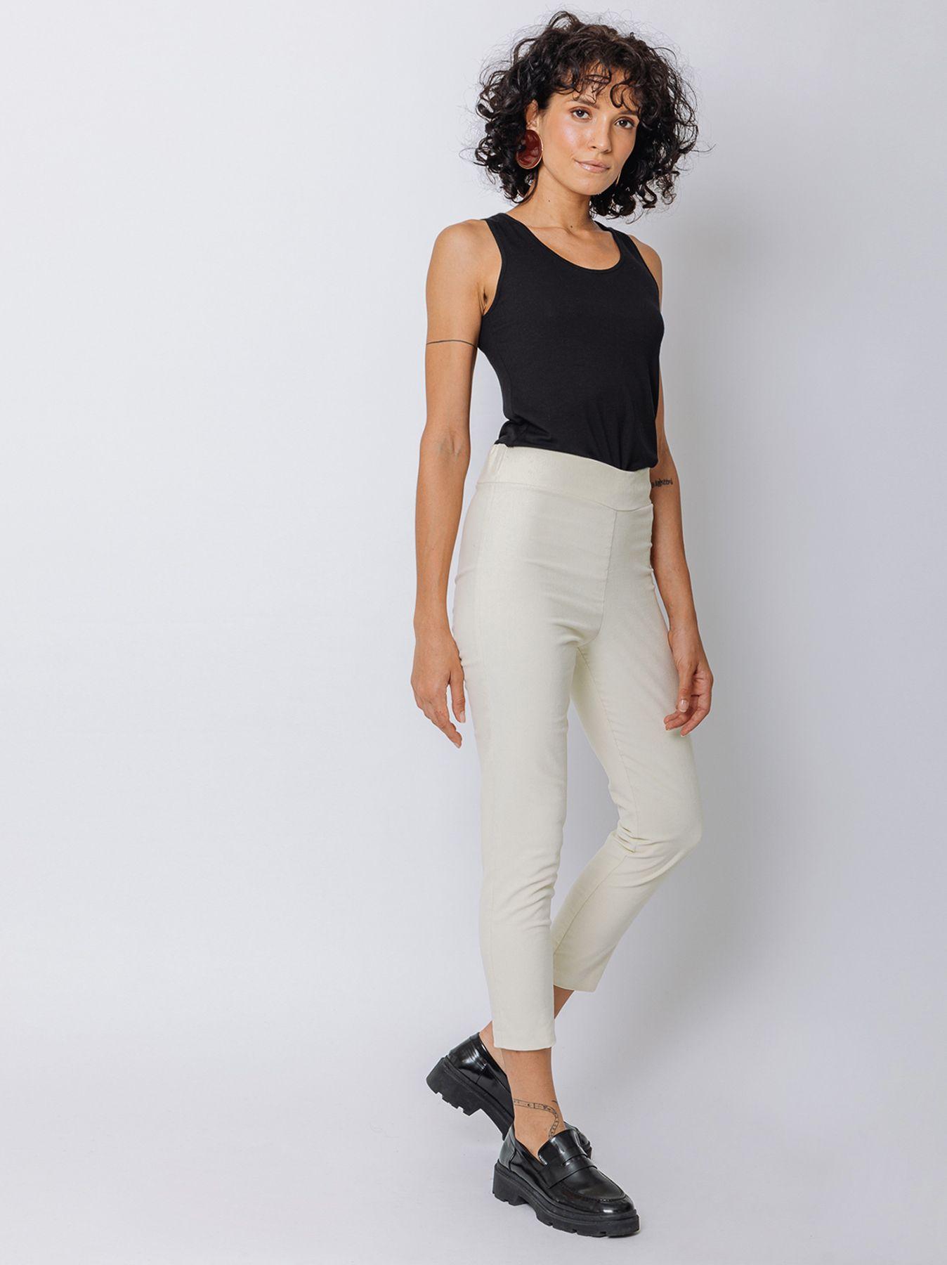 Pantalone skinny in velluto millerighe