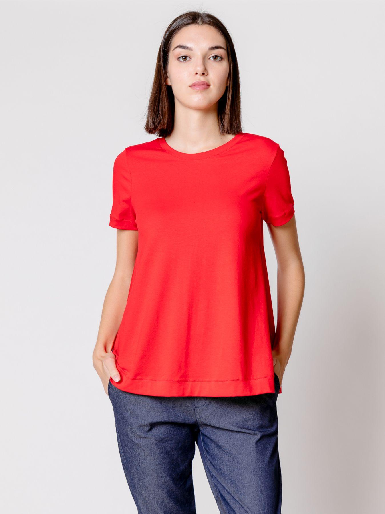T-shirt svasata ROSSO